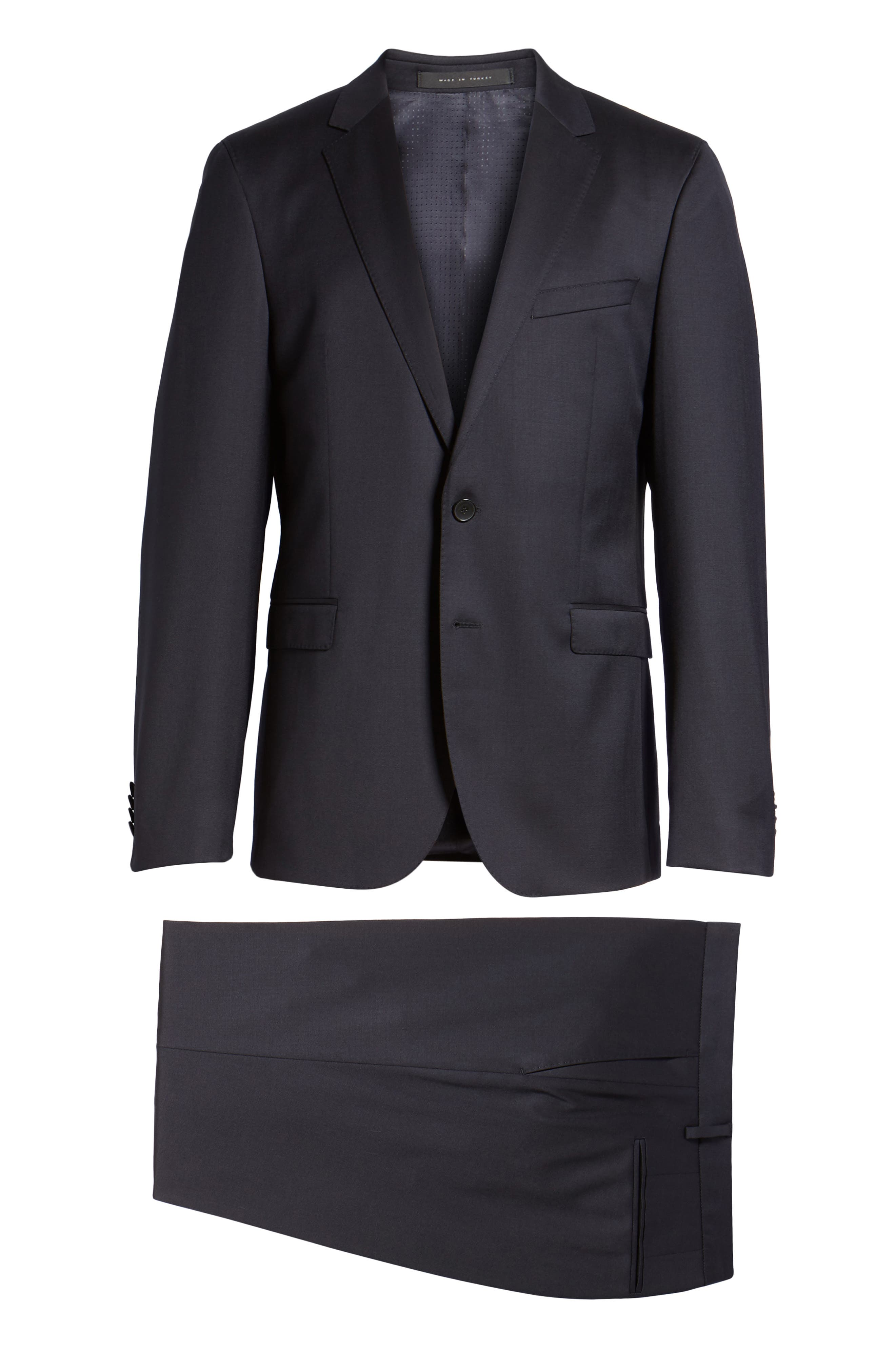 Ryan/Win Extra Trim Fit Solid Wool Suit,                             Alternate thumbnail 8, color,                             Dark Blue