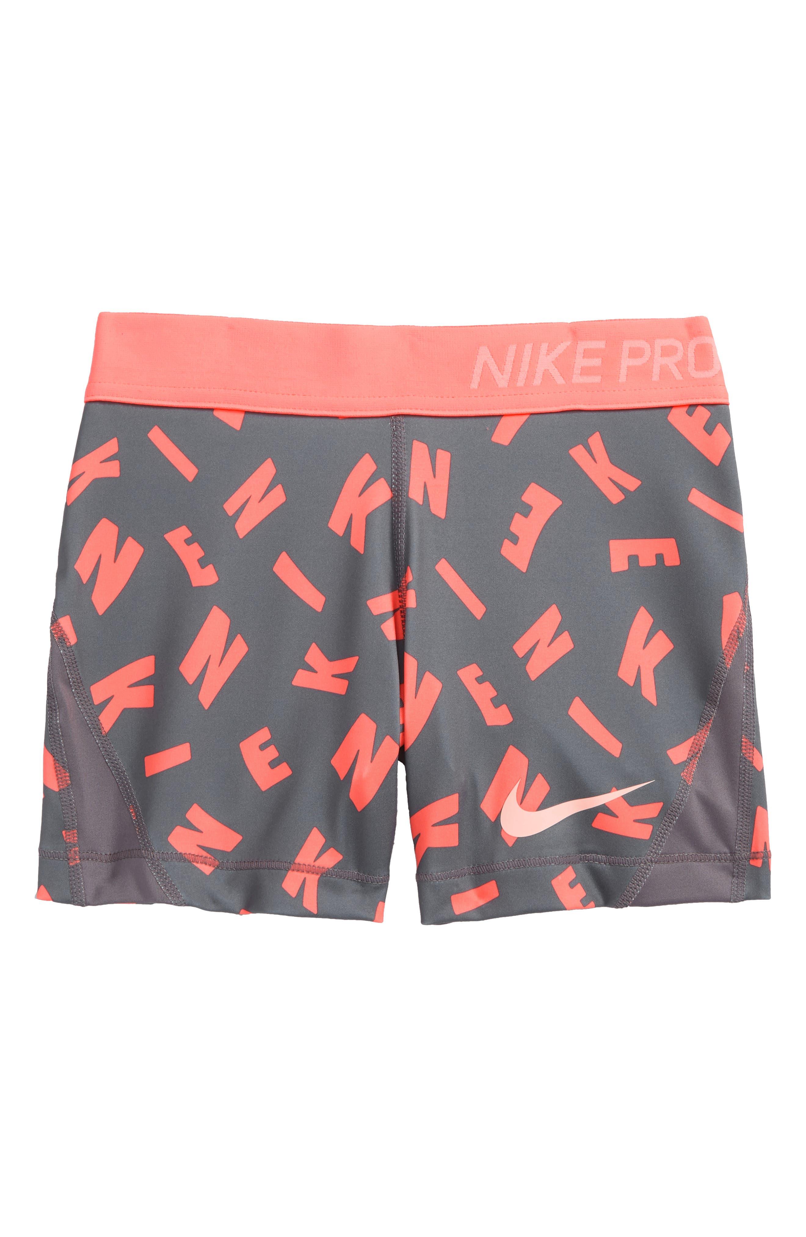 Pro Dry Shorts,                             Main thumbnail 1, color,                             Gun Smoke/ Crimson Tint