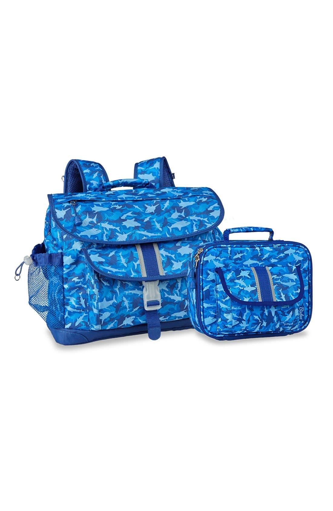 BIXBEE Large Shark Camo Water Resistant Backpack & Lunchbox