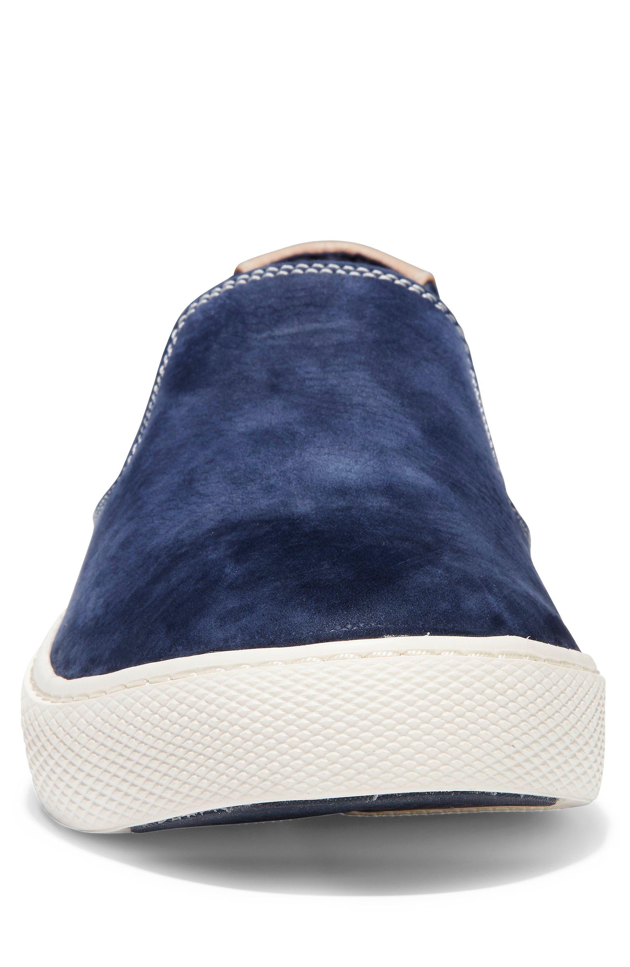 GrandPrø Deck Slip-On Sneaker,                             Alternate thumbnail 4, color,                             Marine Blue Nubuck