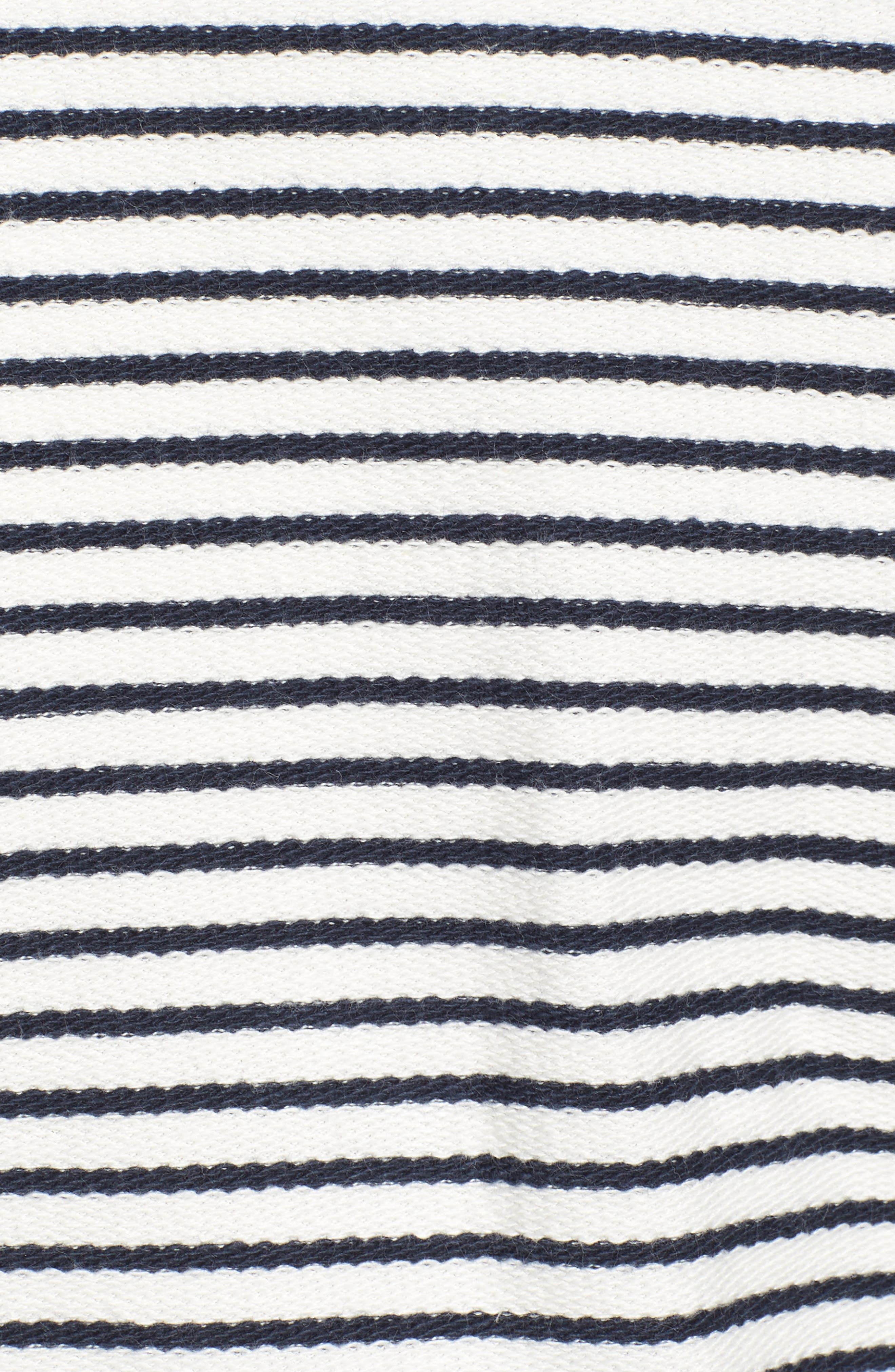 Bamburgh Sweater Jacket,                             Alternate thumbnail 6, color,                             White/ Navy