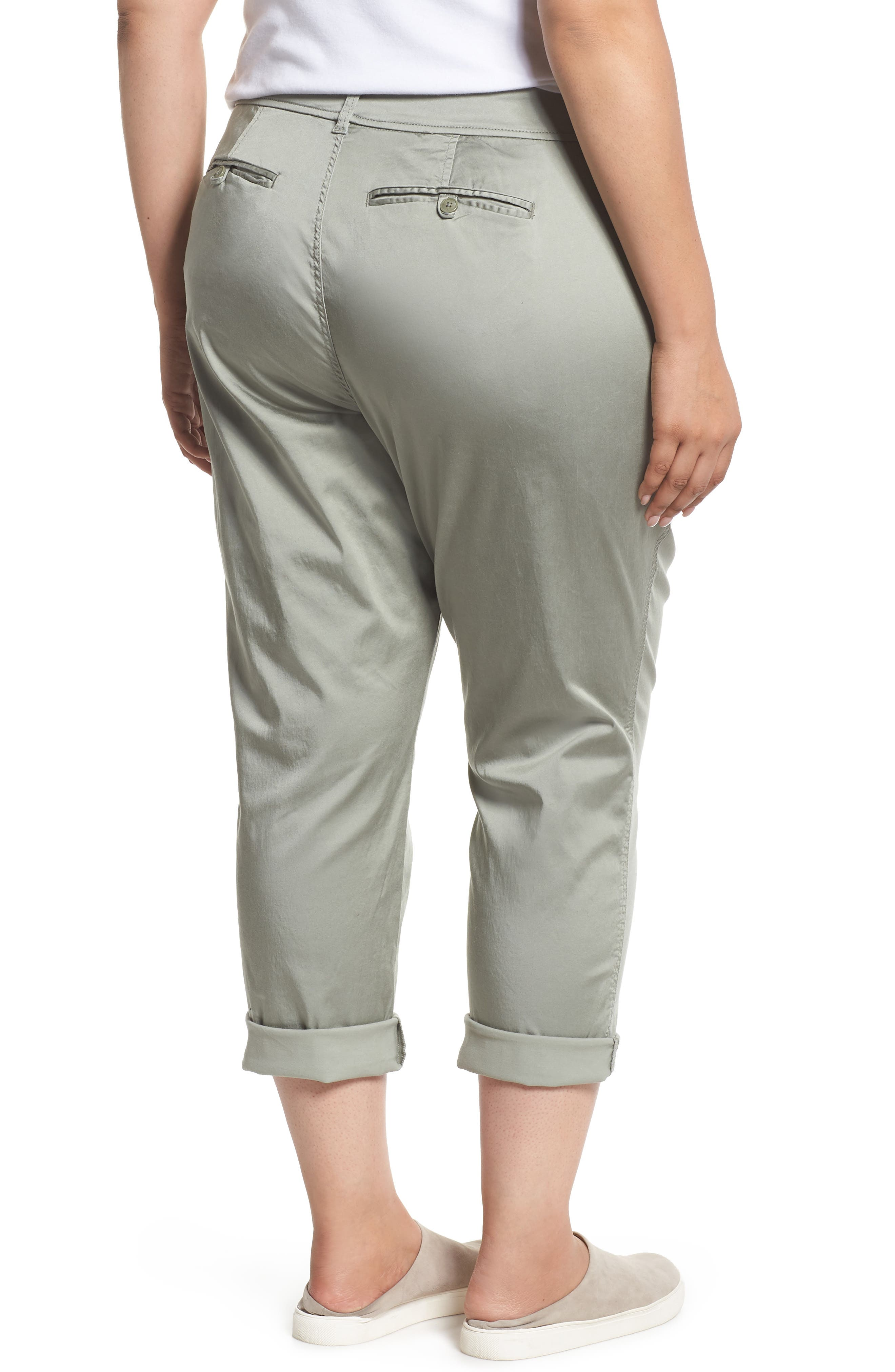 Stretch Cotton Blend Pants,                             Alternate thumbnail 2, color,                             Faded Seagrass