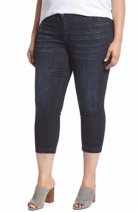 d97472a02a7 KUT from the Kloth Lauren Crop Jeans (Acknowledging) (Plus Size)