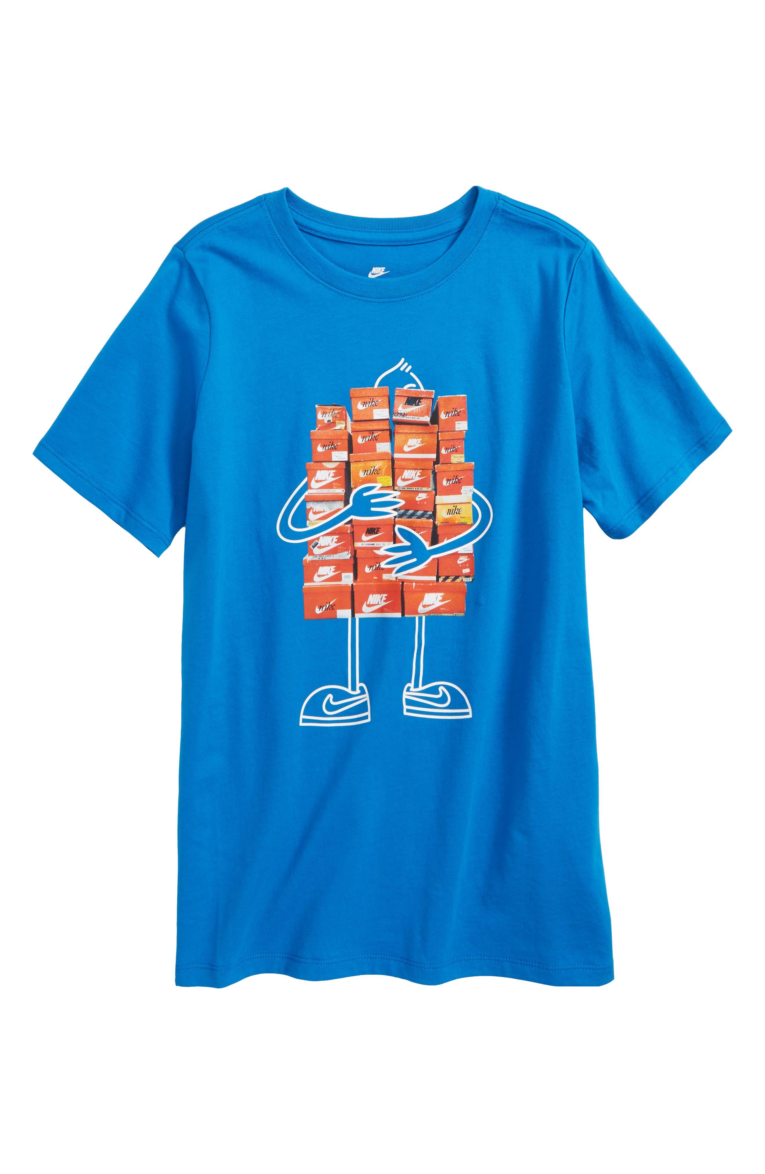 Sneaker Spree Graphic T-Shirt,                             Main thumbnail 1, color,                             Blue Nebula
