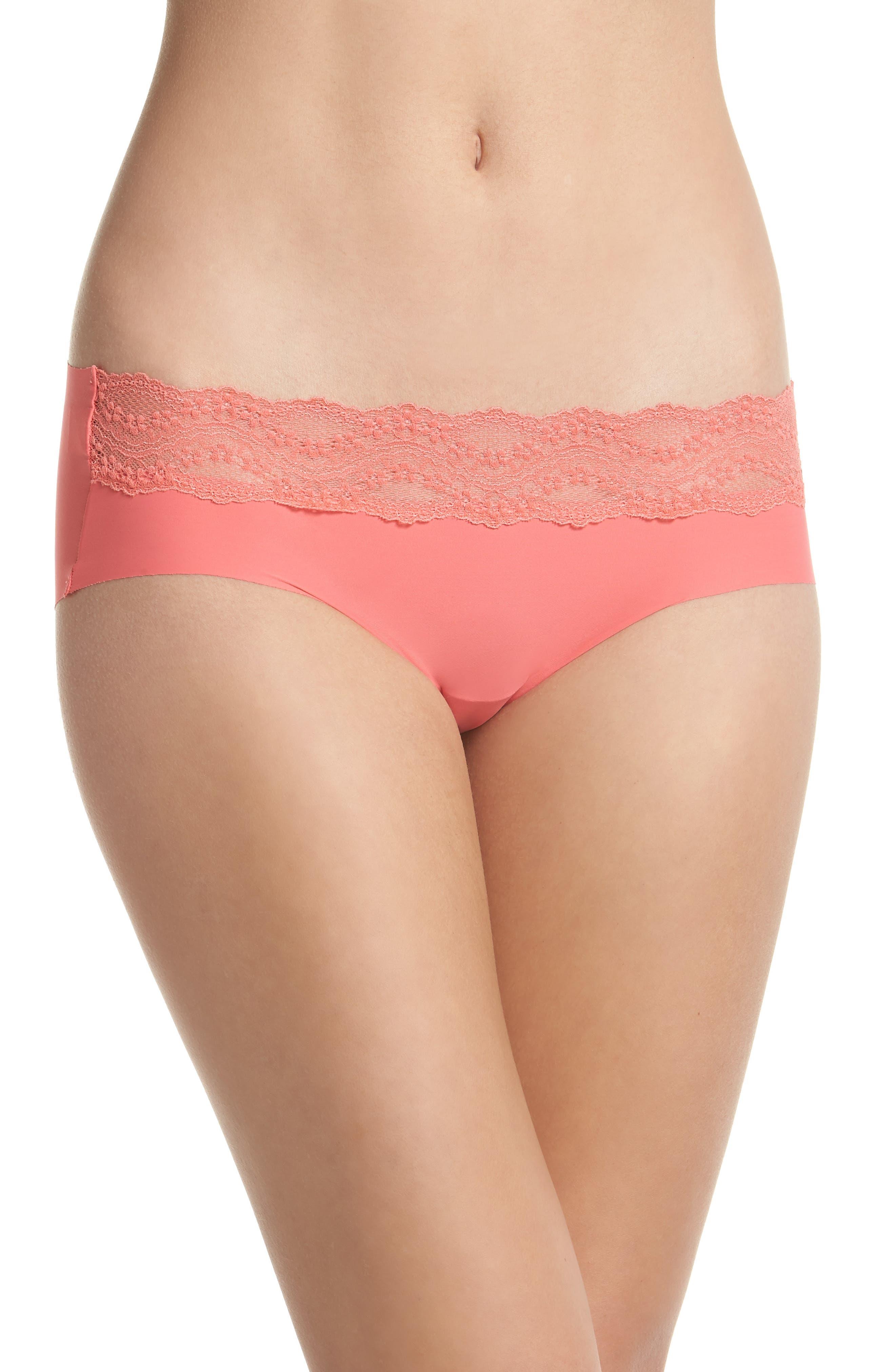 b.bare Hipster Panties,                             Main thumbnail 1, color,                             Calypso Coral