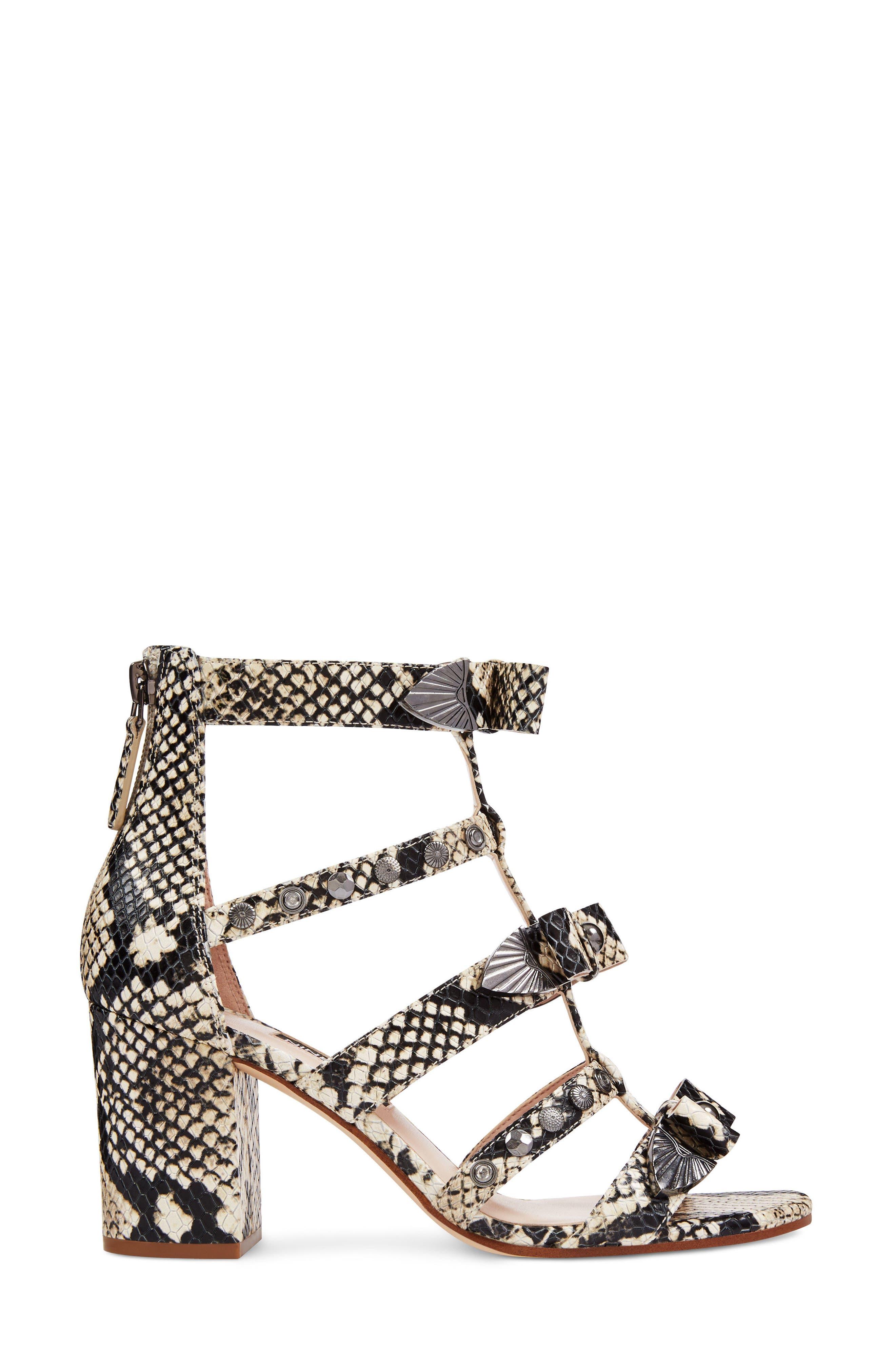 Giovanna Studded Sandal,                             Alternate thumbnail 3, color,                             Off White