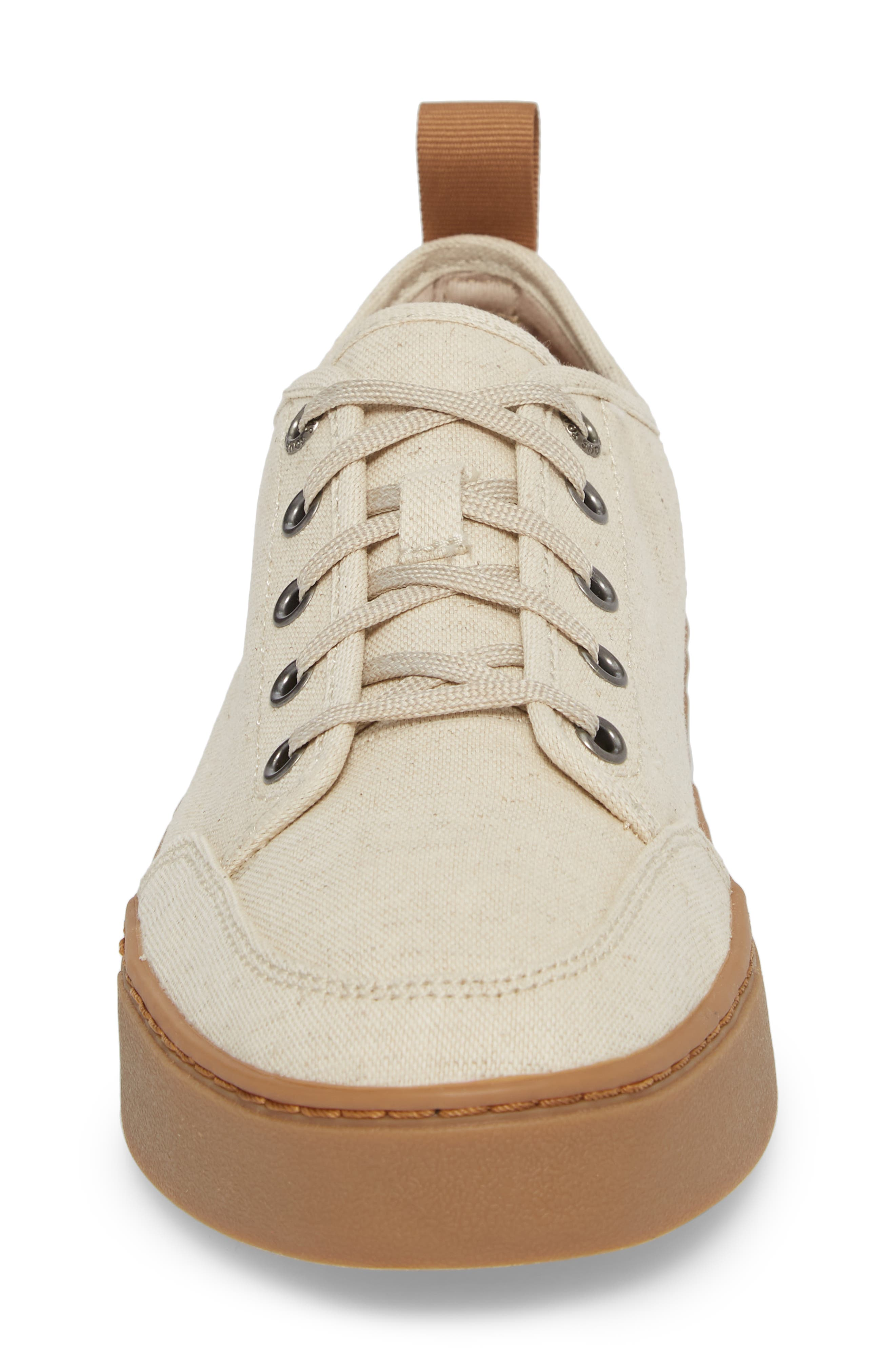 Landen Low Top Sneaker,                             Alternate thumbnail 4, color,                             Natural Hemp/ Gum