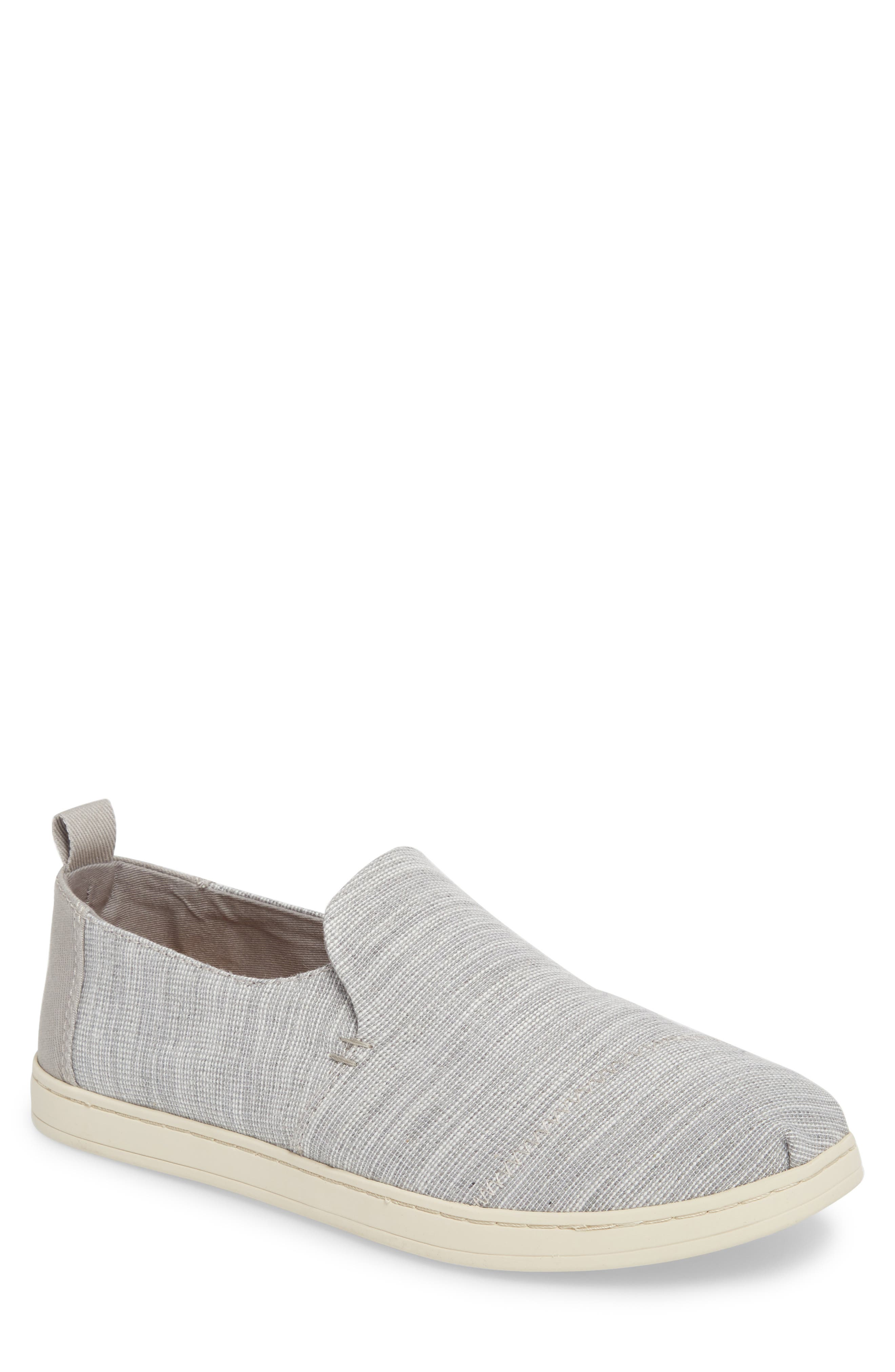 Deconstructed Alpargata Slip-On,                         Main,                         color, Drizzle Striped Chambray