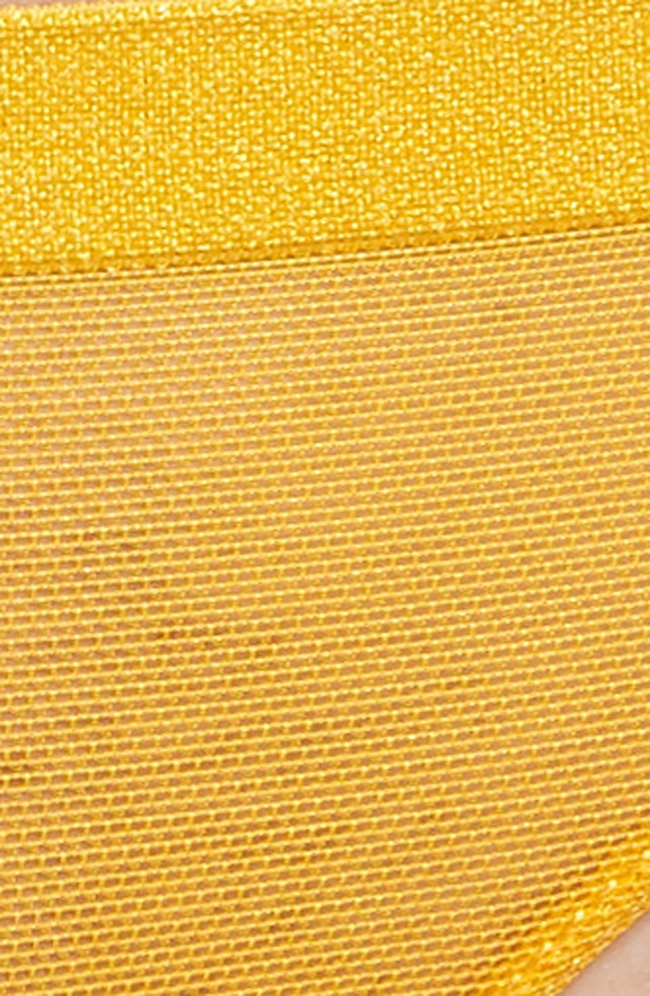Roxanne Mesh Bikini,                             Alternate thumbnail 6, color,                             Gold