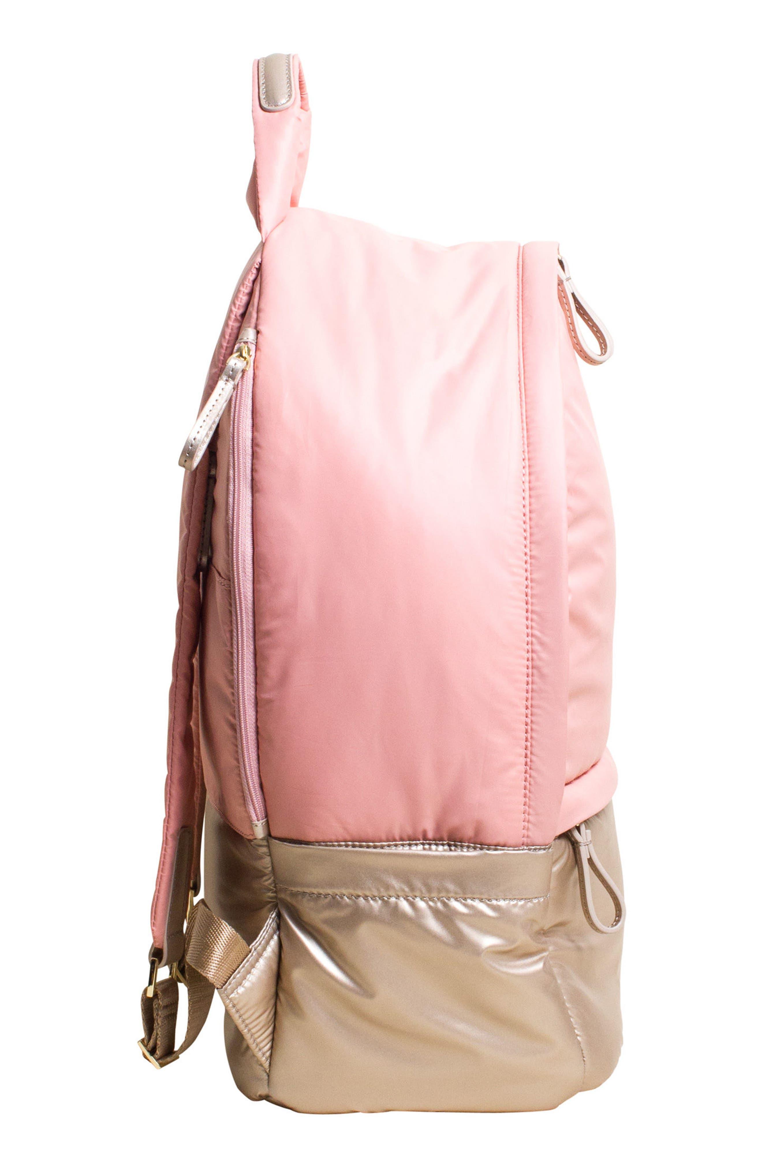 Stratus Waterproof Backpack,                             Alternate thumbnail 4, color,                             Pink