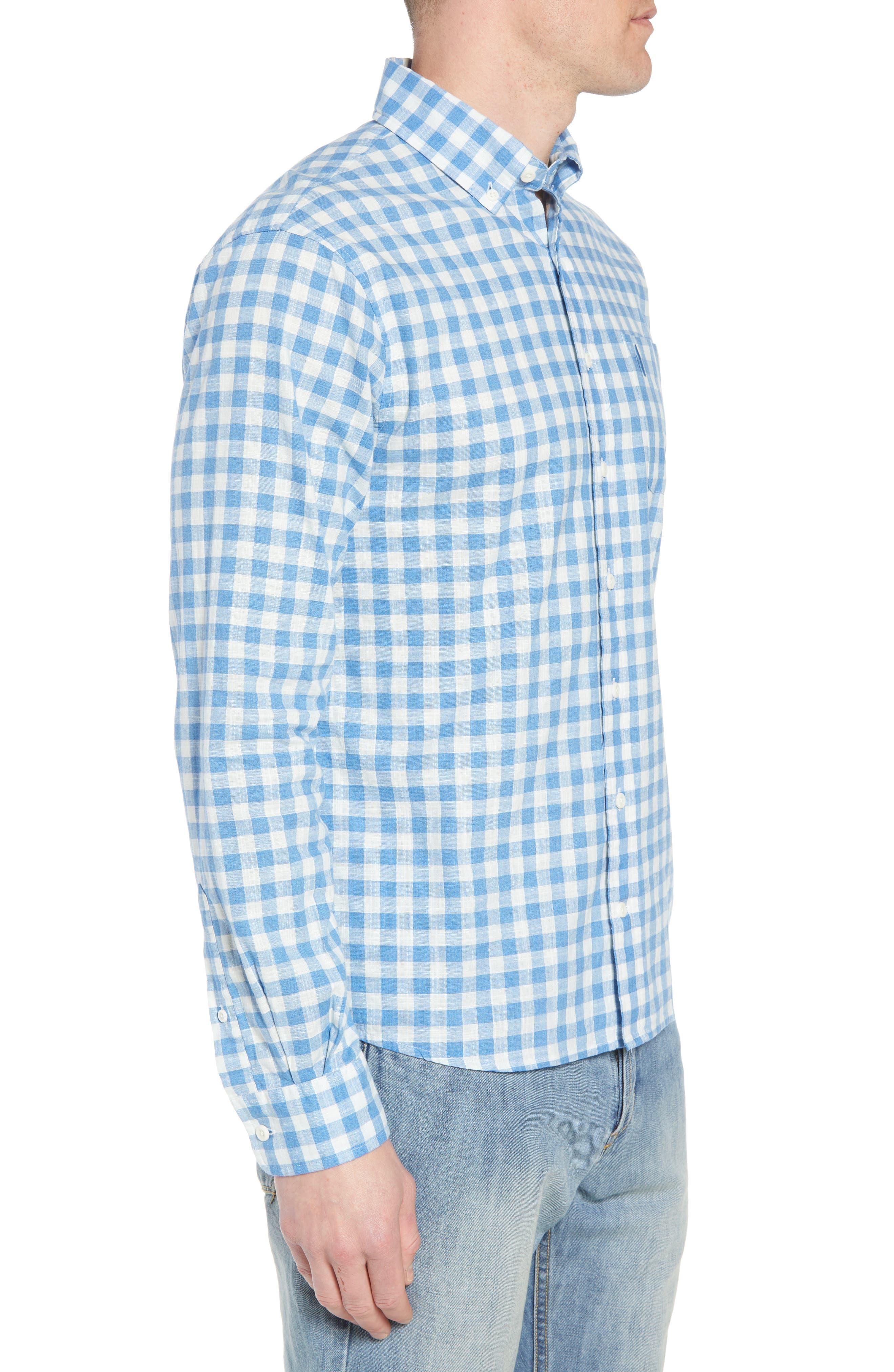Watts Regular Fit Sport Shirt,                             Alternate thumbnail 4, color,                             Regatta