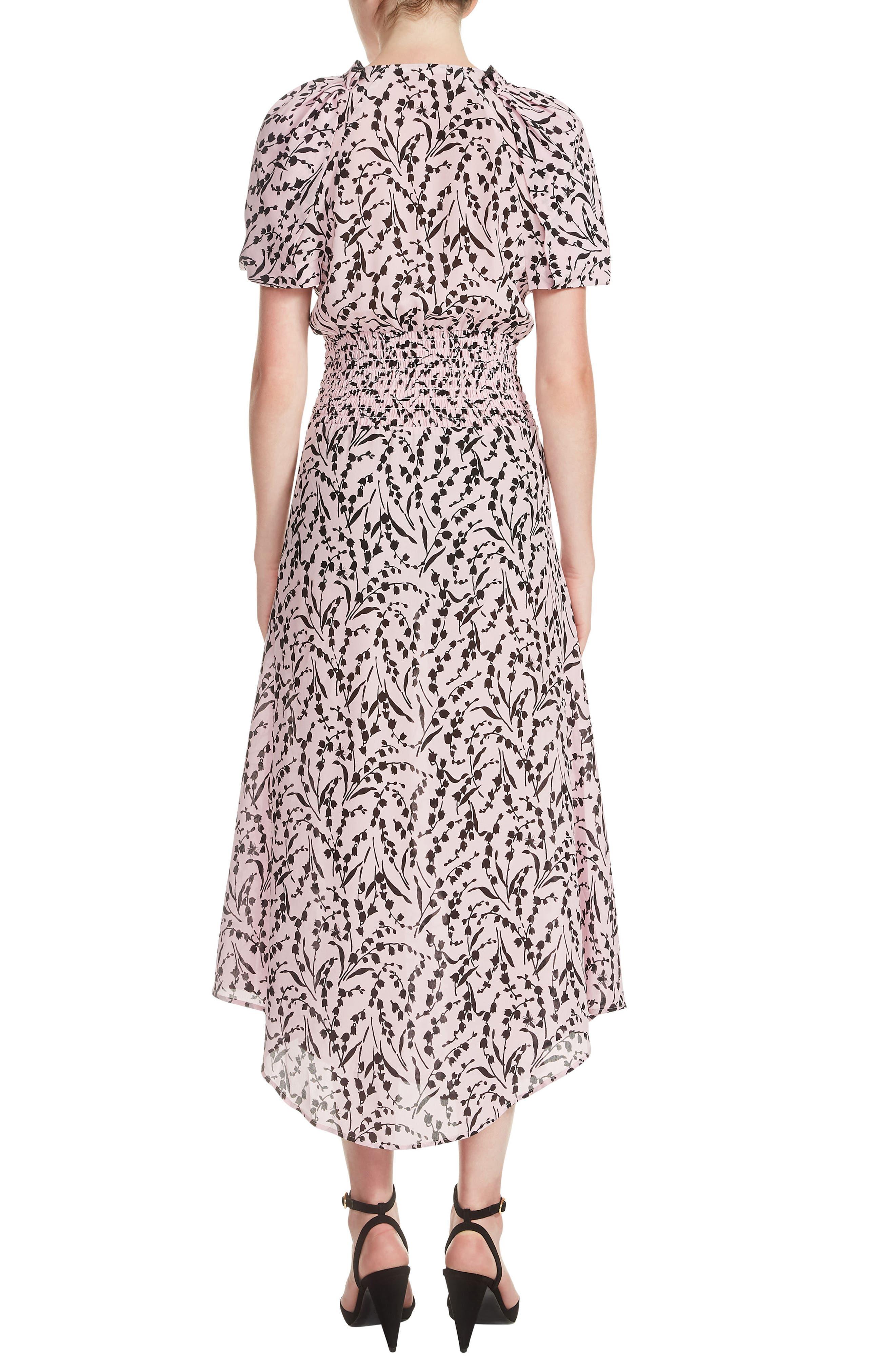 Rivara High/Low Floral Surplice Dress,                             Alternate thumbnail 2, color,                             Printed
