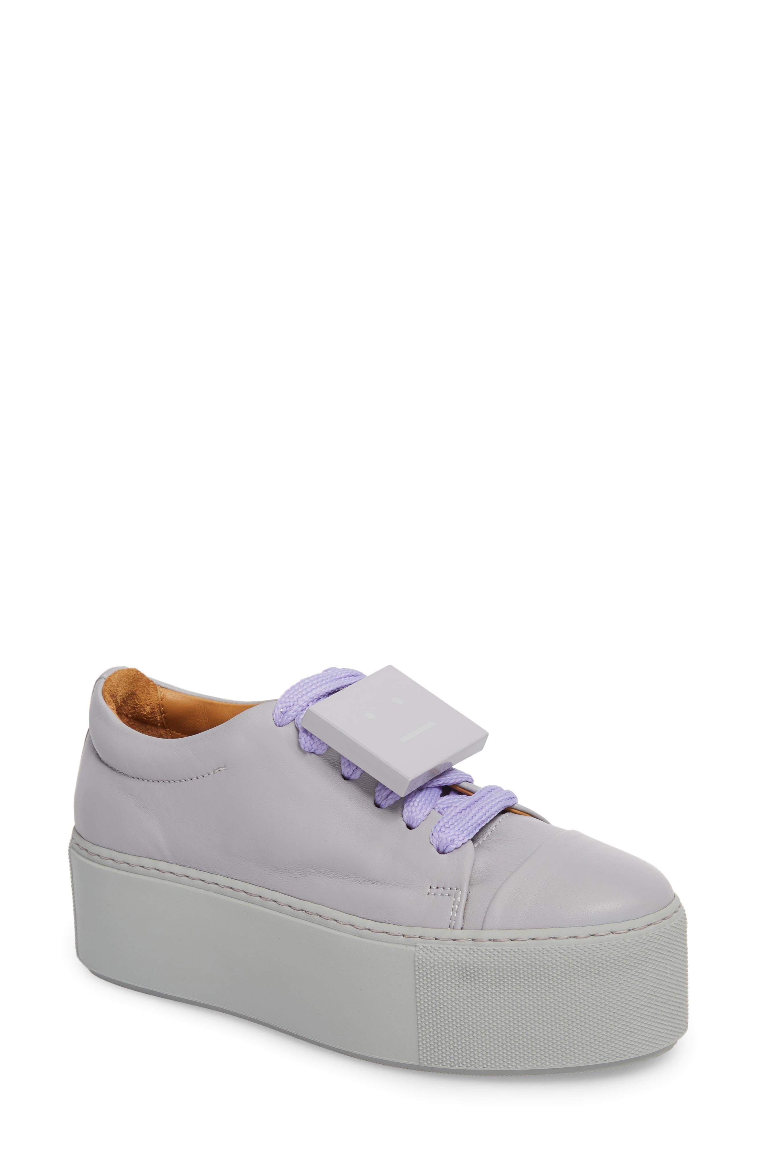 Acne Studios Drihanna Nappa Leather Platform Sneaker (Women)