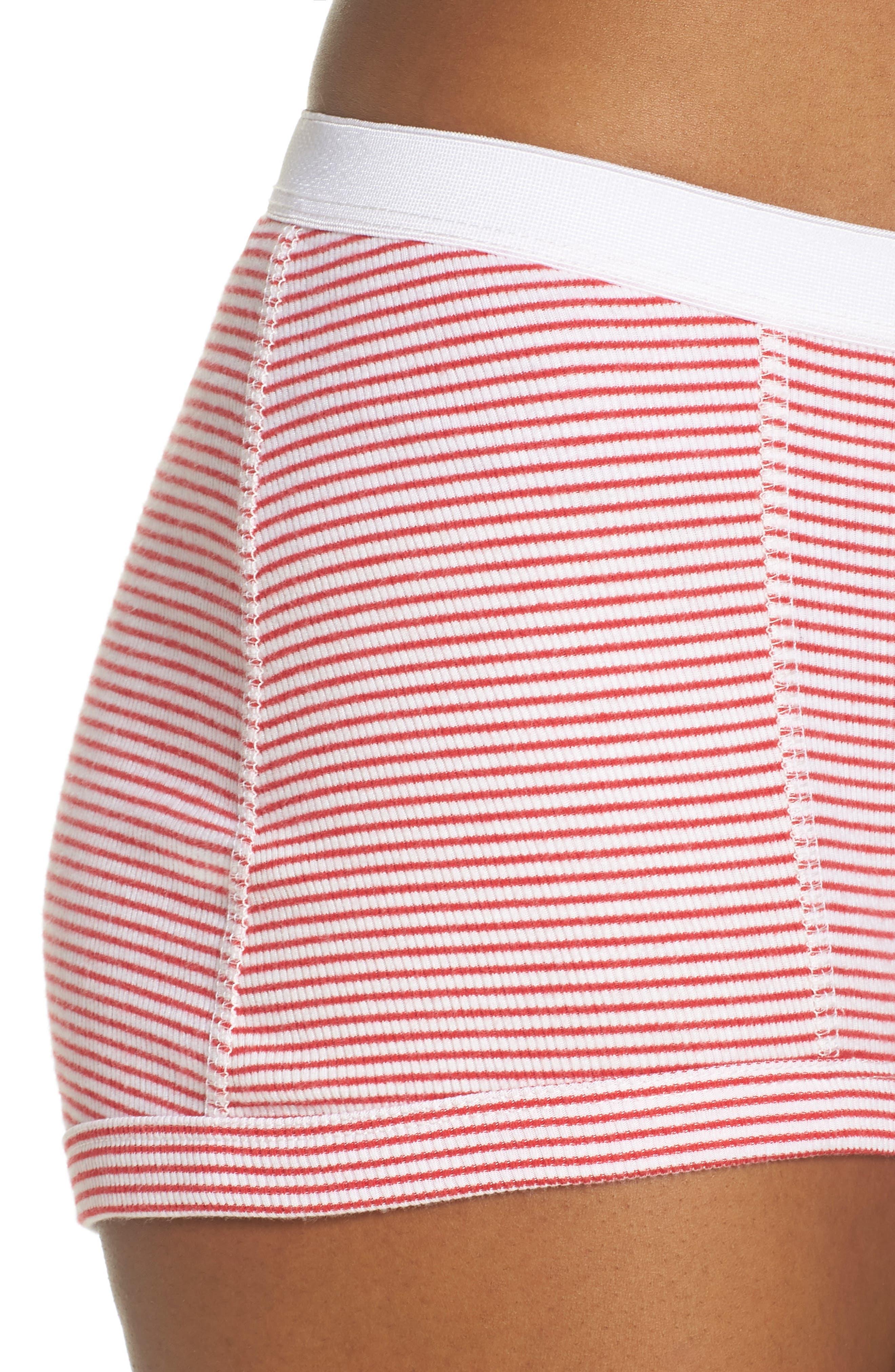 Peony Shorts,                             Alternate thumbnail 4, color,                             Red Stripe