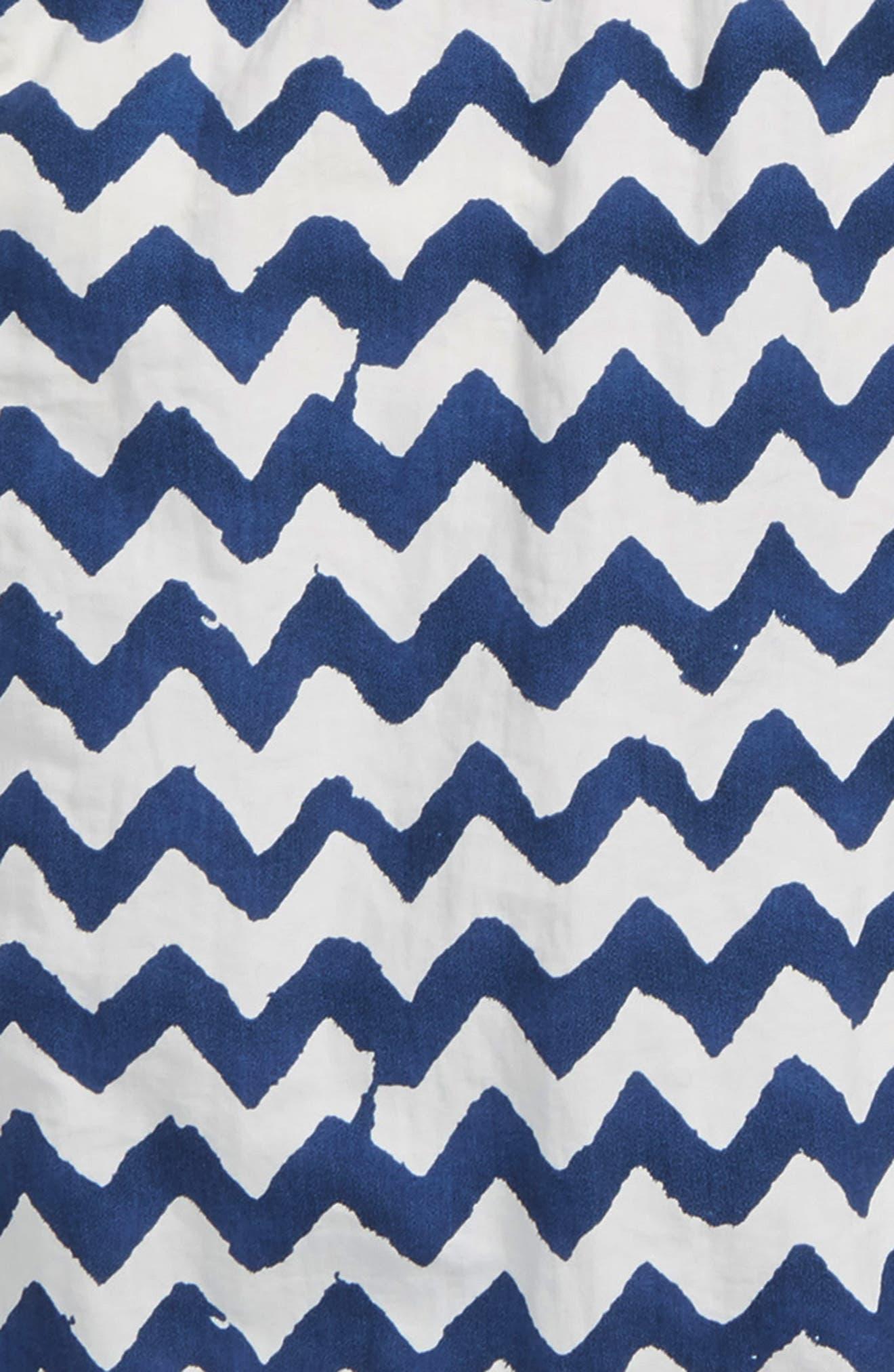 Allover Print Swim Trunks,                             Alternate thumbnail 2, color,                             Blue
