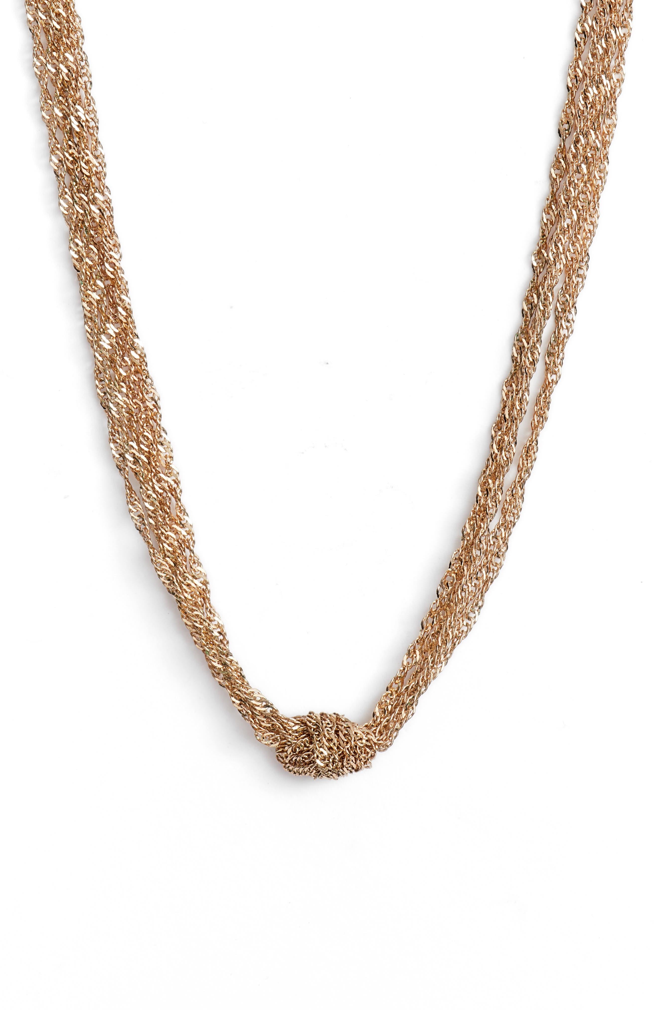 Jenny Necklace,                         Main,                         color, Gold