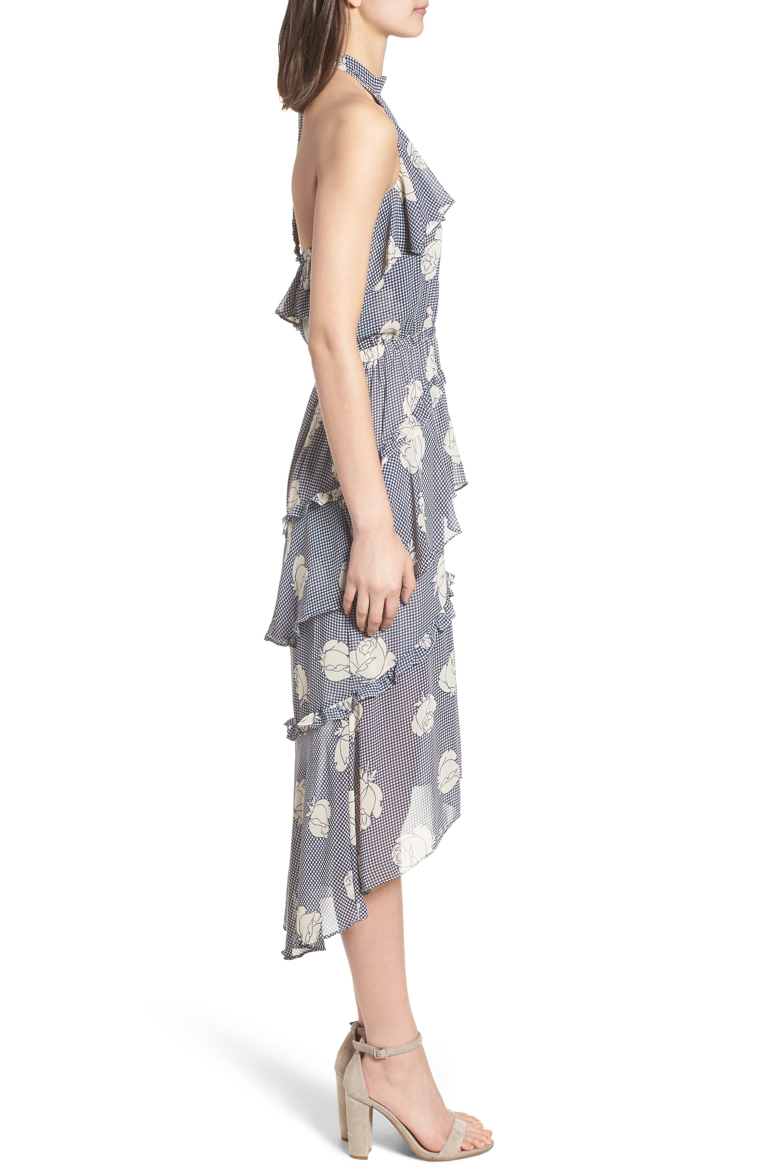 Anca Halter Dress,                             Alternate thumbnail 3, color,                             Multi Fe12