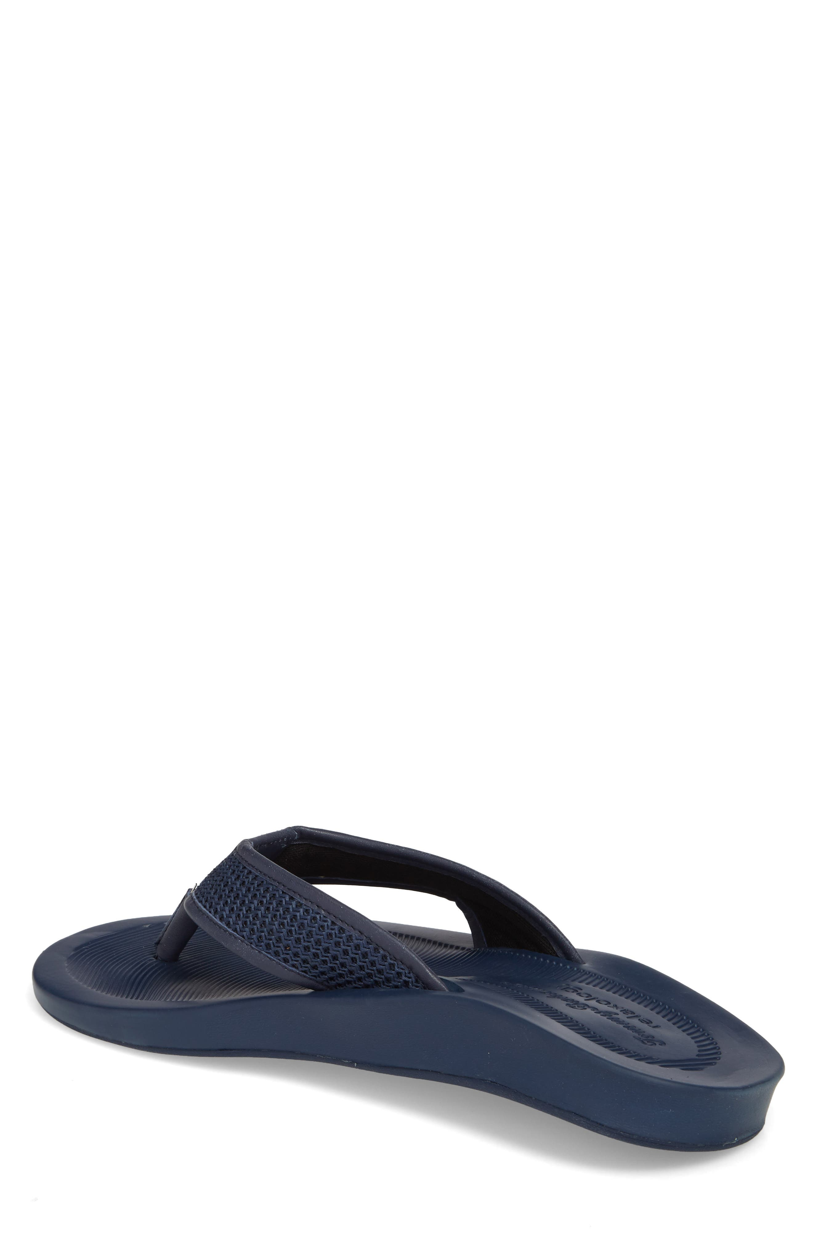 Shallows Edge Mesh Flip Flop,                             Alternate thumbnail 2, color,                             Navy Mesh/ Leather