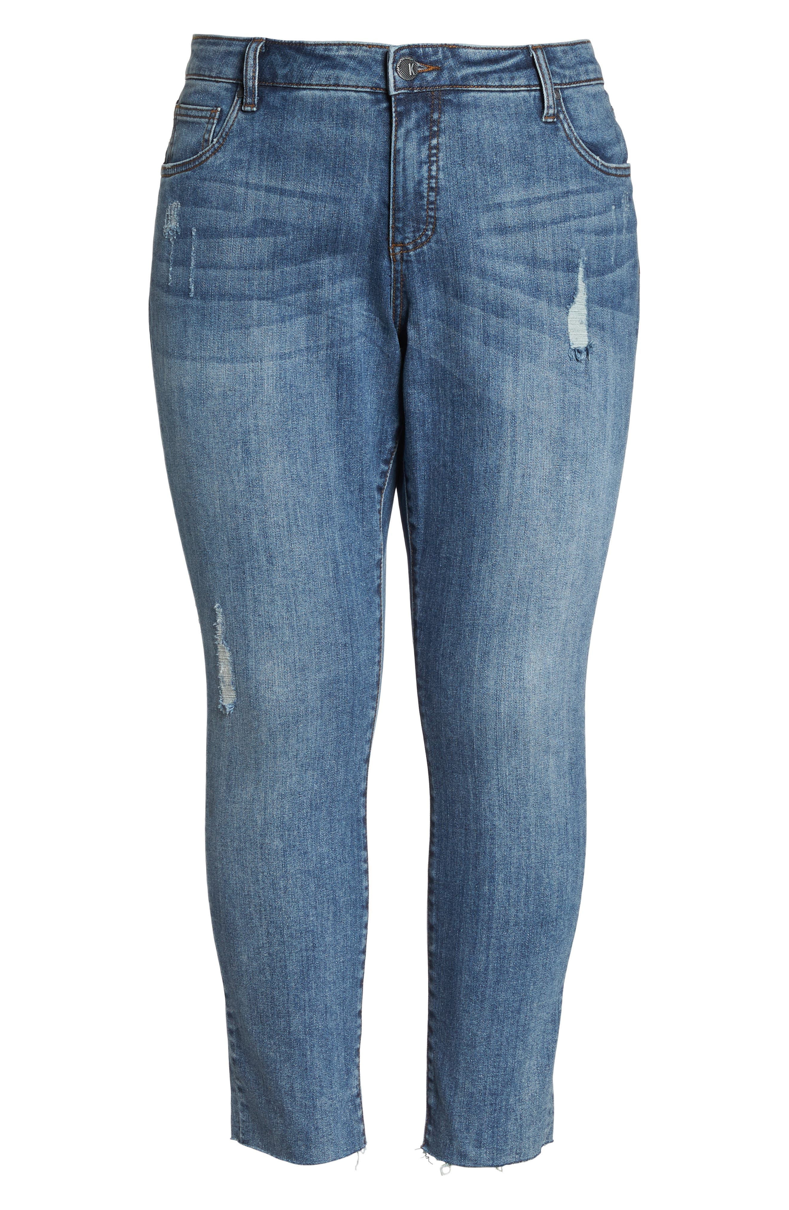 Reese Distressed Ankle Straight Leg Jeans,                             Alternate thumbnail 7, color,                             Appointed