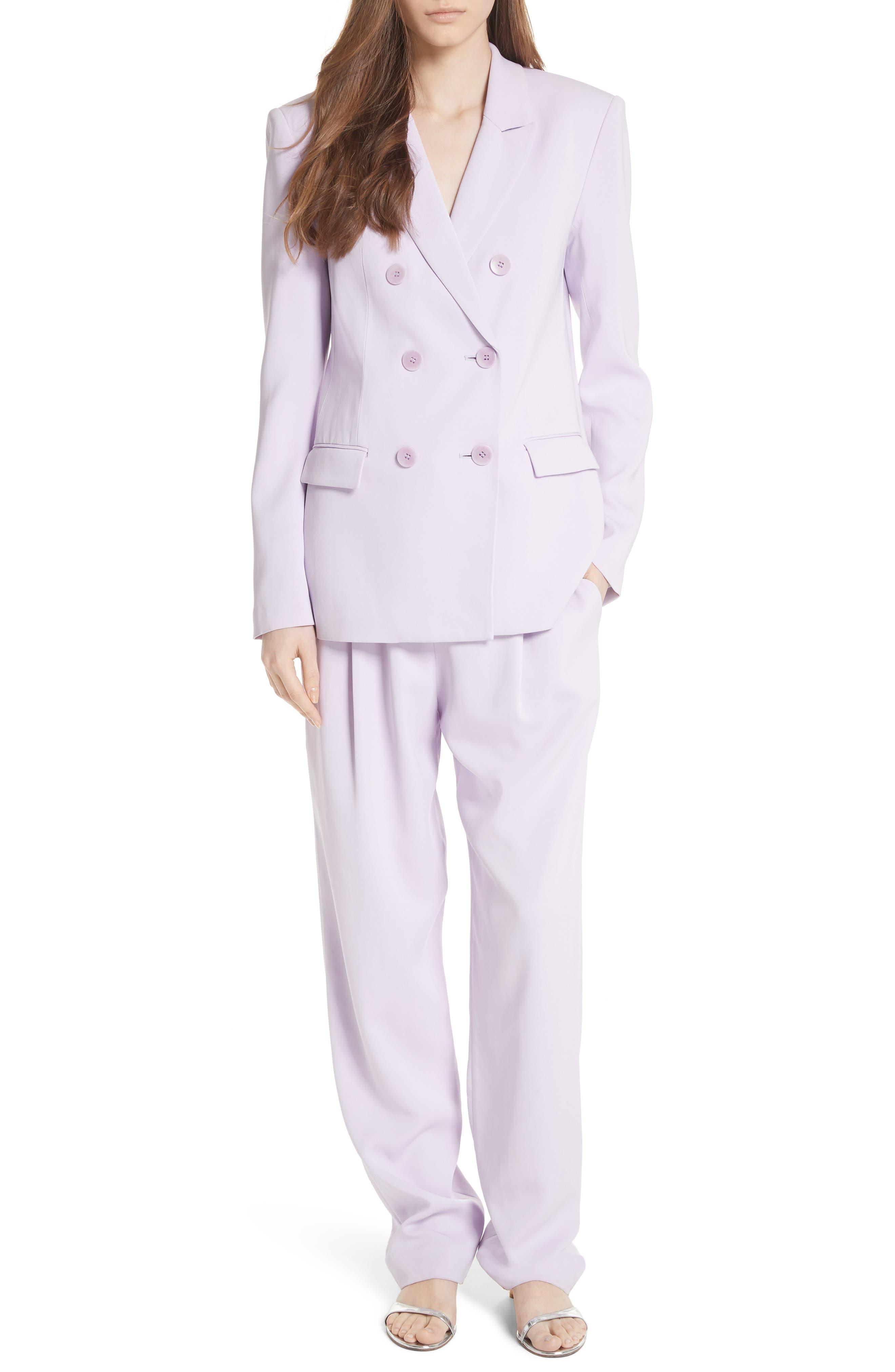 Sculpted Pleat Front Suit Pants,                             Alternate thumbnail 5, color,                             Lavender