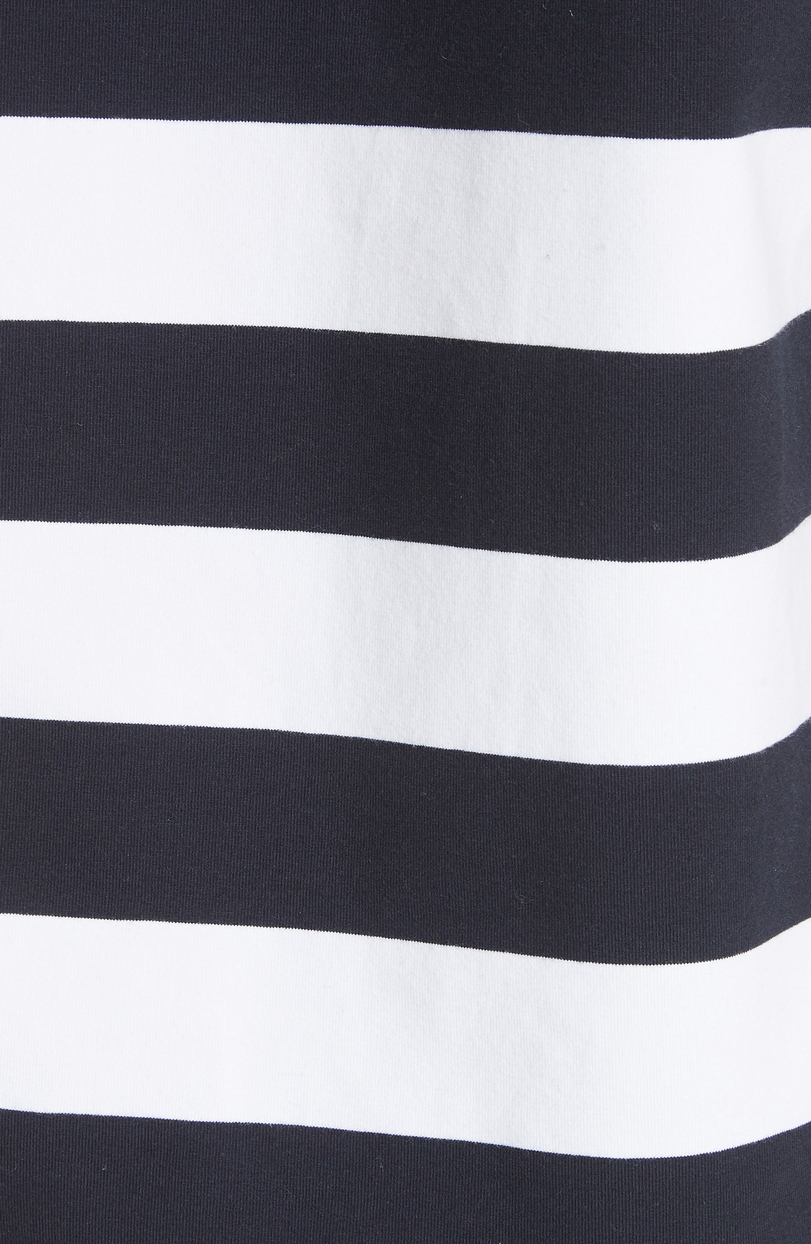 Muscle Stripe Stretch Cotton Tee,                             Alternate thumbnail 6, color,                             Navy/ White Multi