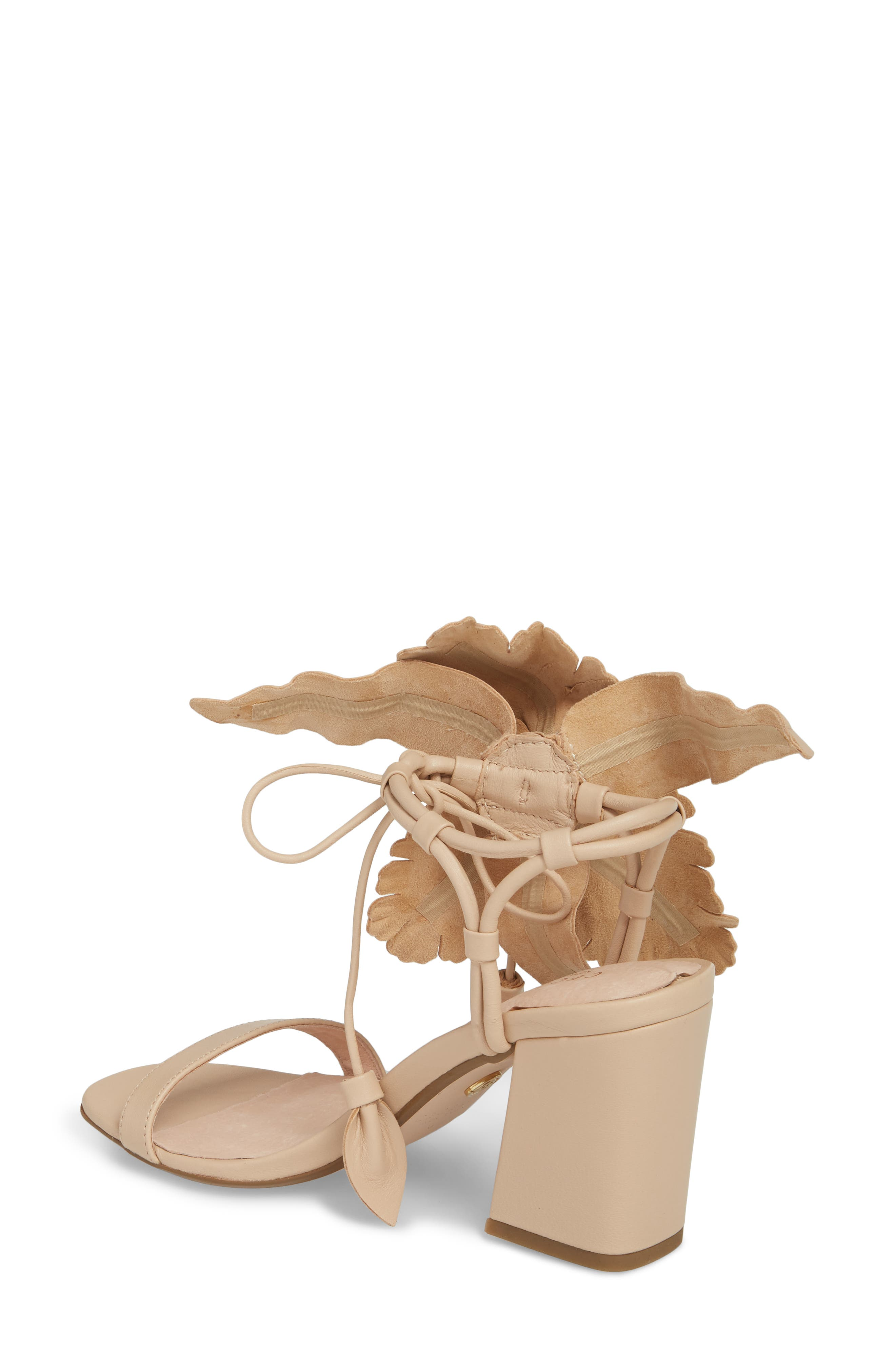 Hibiscus Sandal,                             Alternate thumbnail 2, color,                             Nude Leather