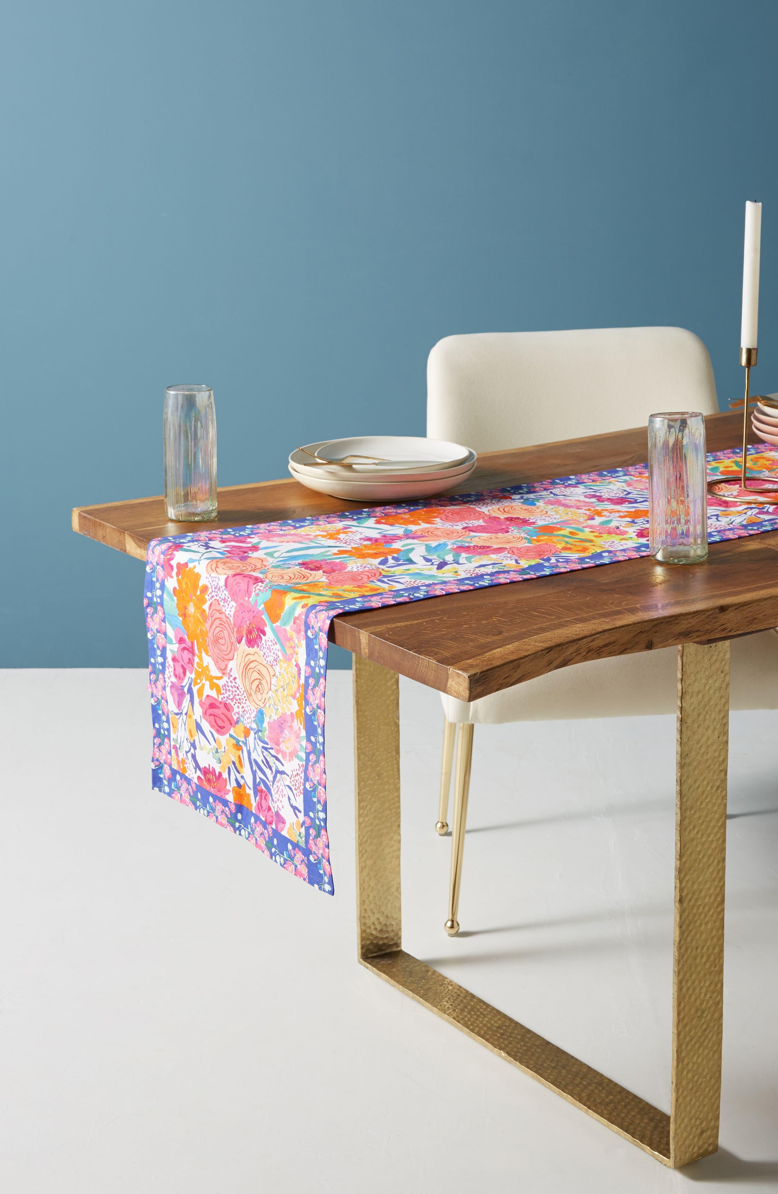 Paint + Petals Table Runner,                         Main,                         color, White Multi