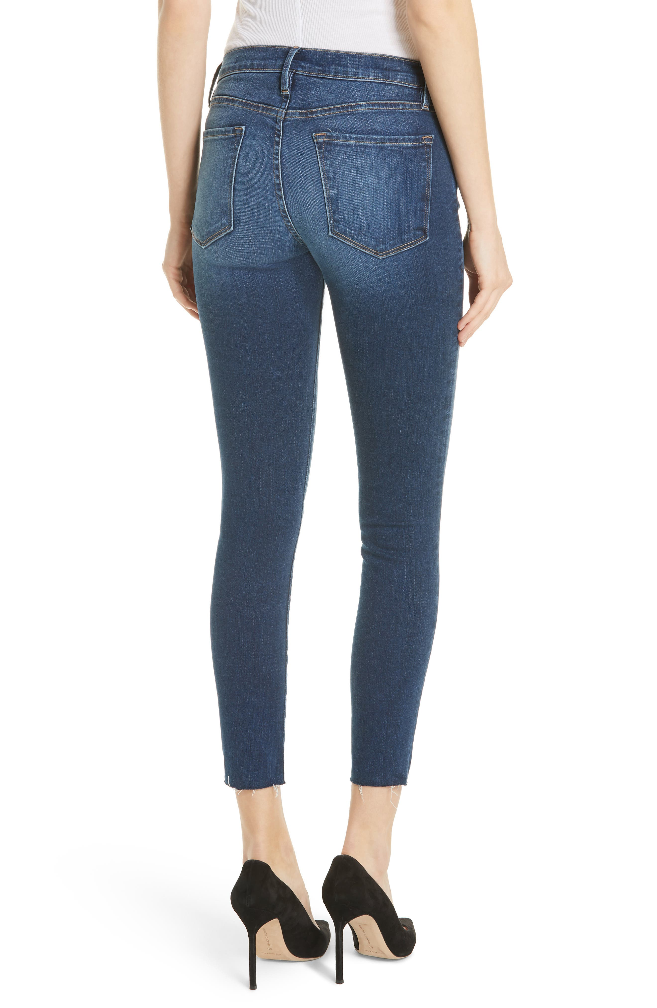 Le Skinny de Jeanne Raw Hem Crop Jeans,                             Alternate thumbnail 2, color,                             Cobbert Exclusive