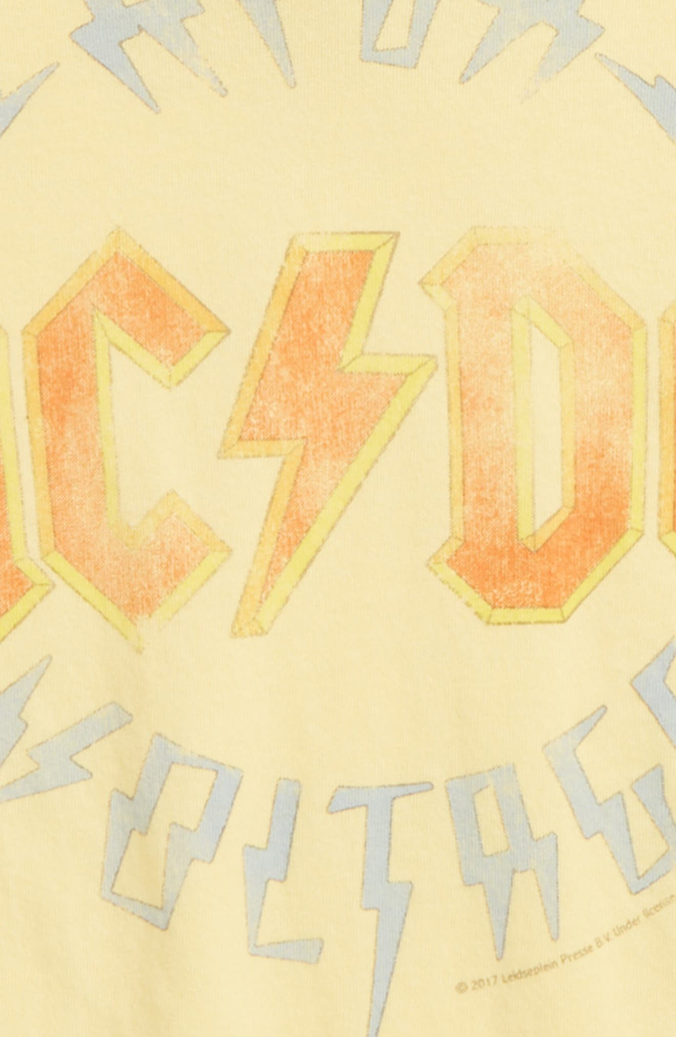 AC/DC Graphic Tee,                             Alternate thumbnail 2, color,                             Yellow