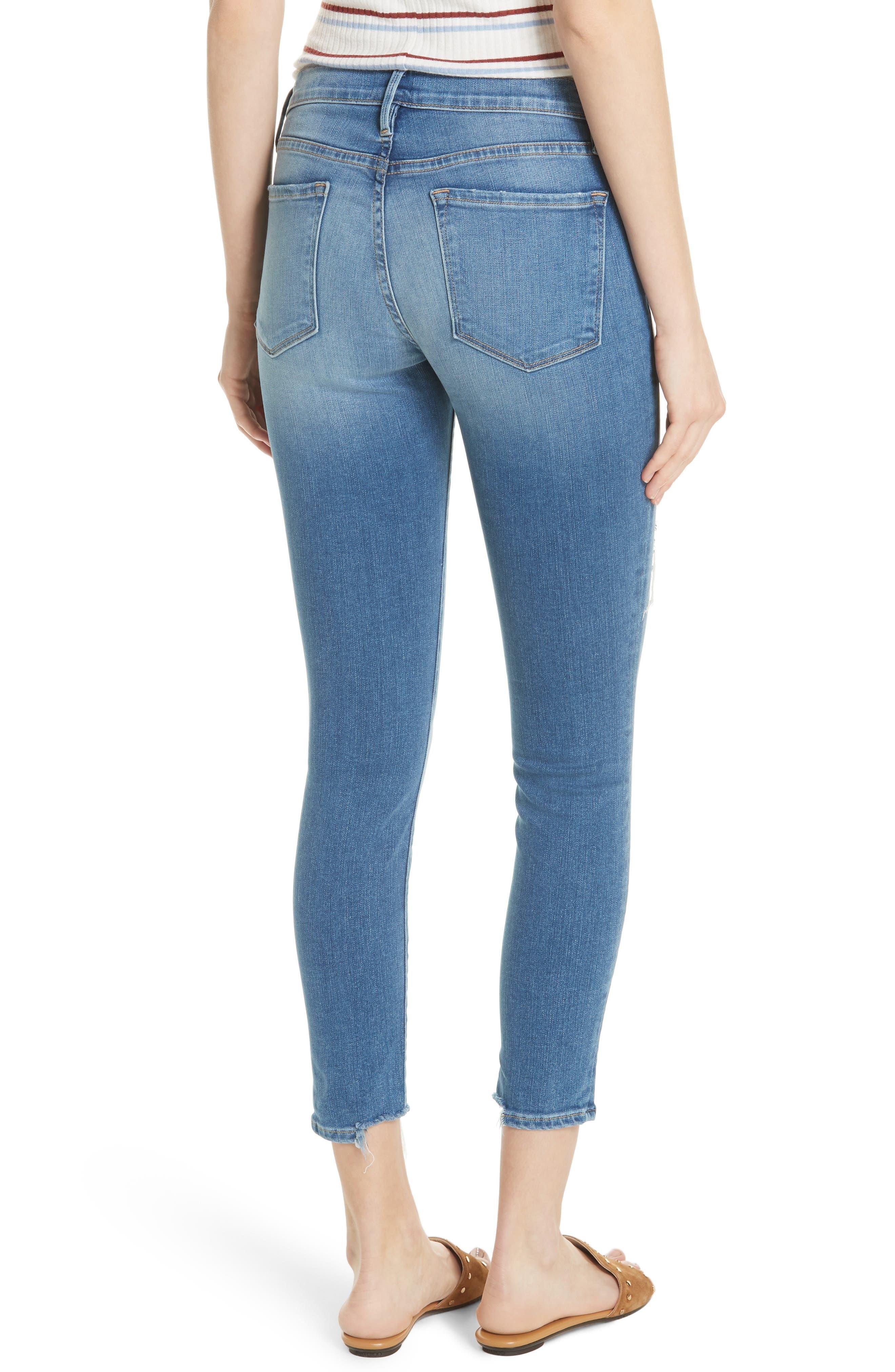 Le Skinny de Jeanne Crop Jeans,                             Alternate thumbnail 2, color,                             Timberland Exclusive