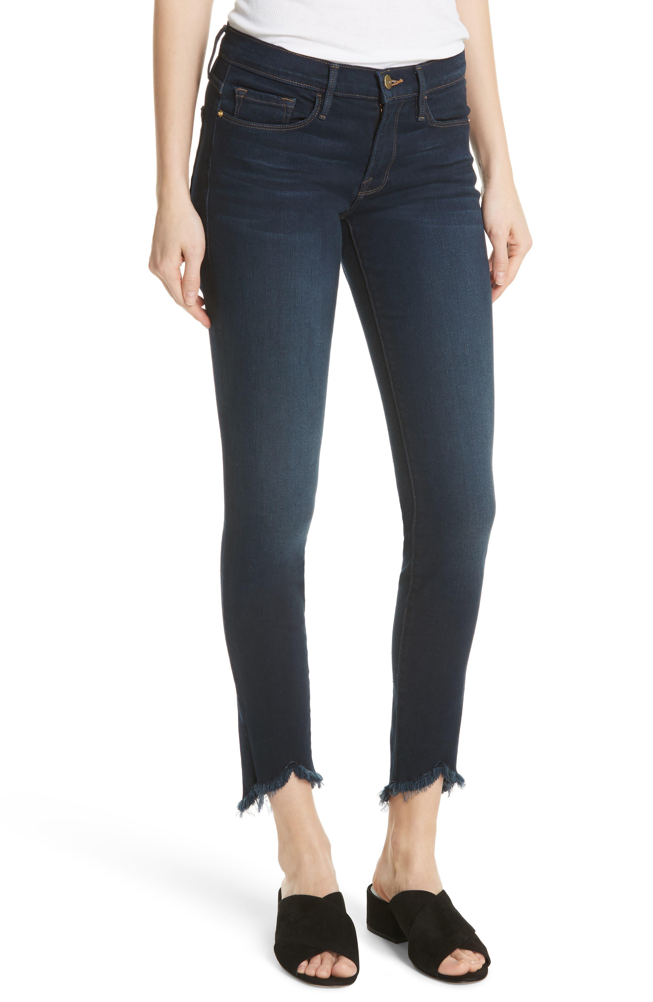 Le Skinny de Jeanne Sweetheart Hem Jeans,                             Main thumbnail 1, color,                             Longstreet