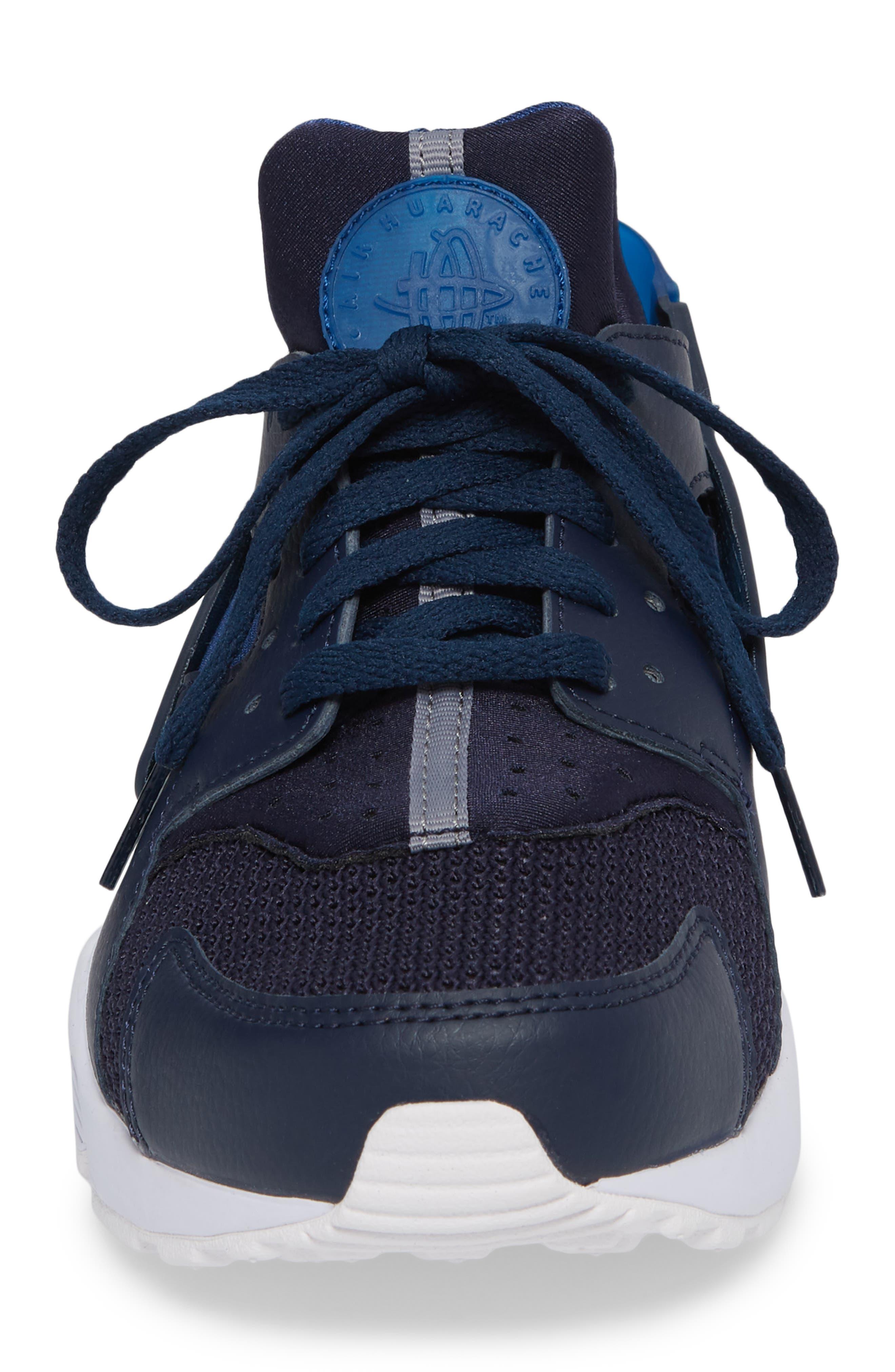 'Air Huarache' Sneaker,                             Alternate thumbnail 3, color,                             Obsidian/ Gym Blue