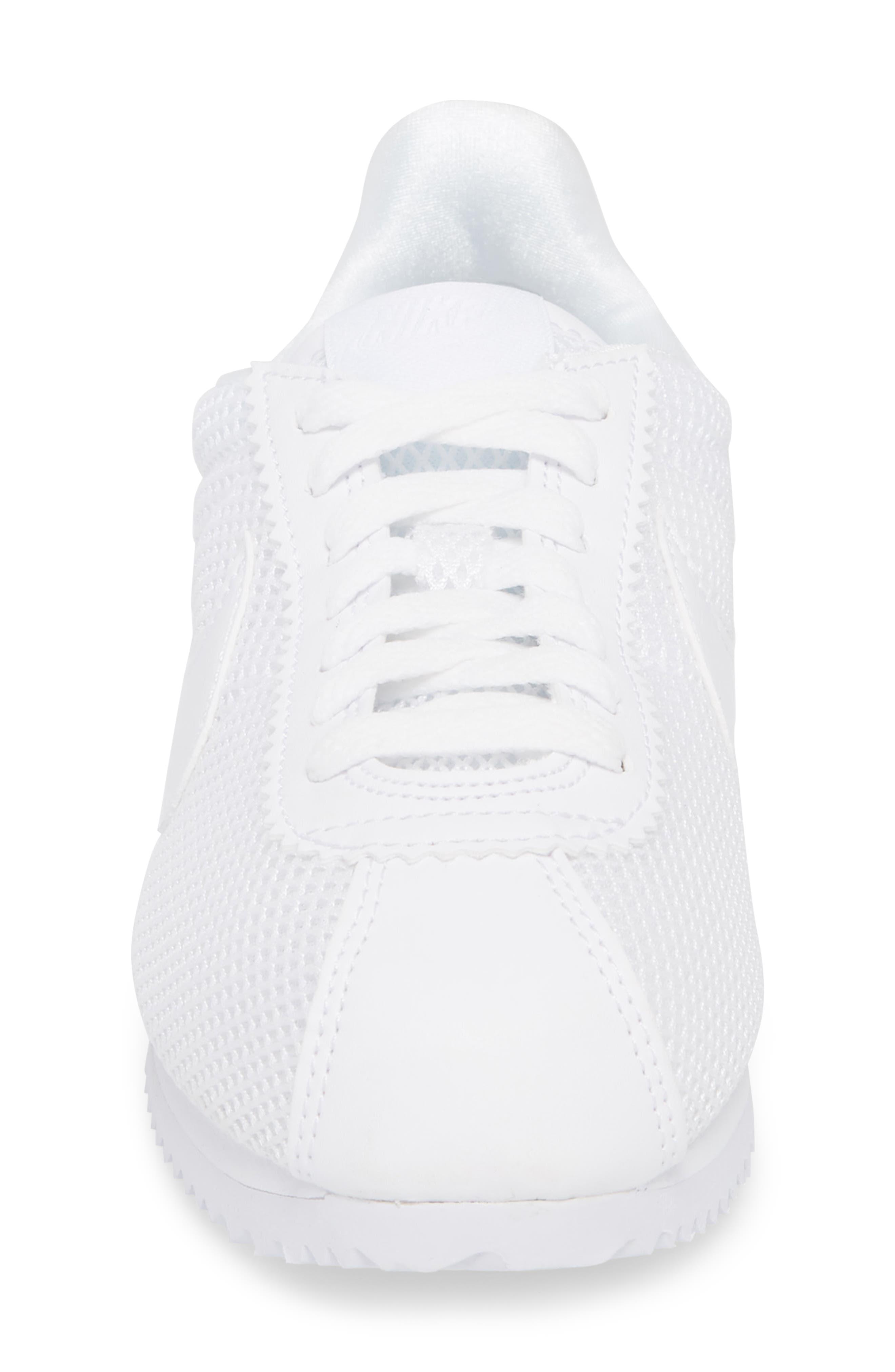 Classic Cortez Premium XLV Sneaker,                             Alternate thumbnail 4, color,                             White/ White