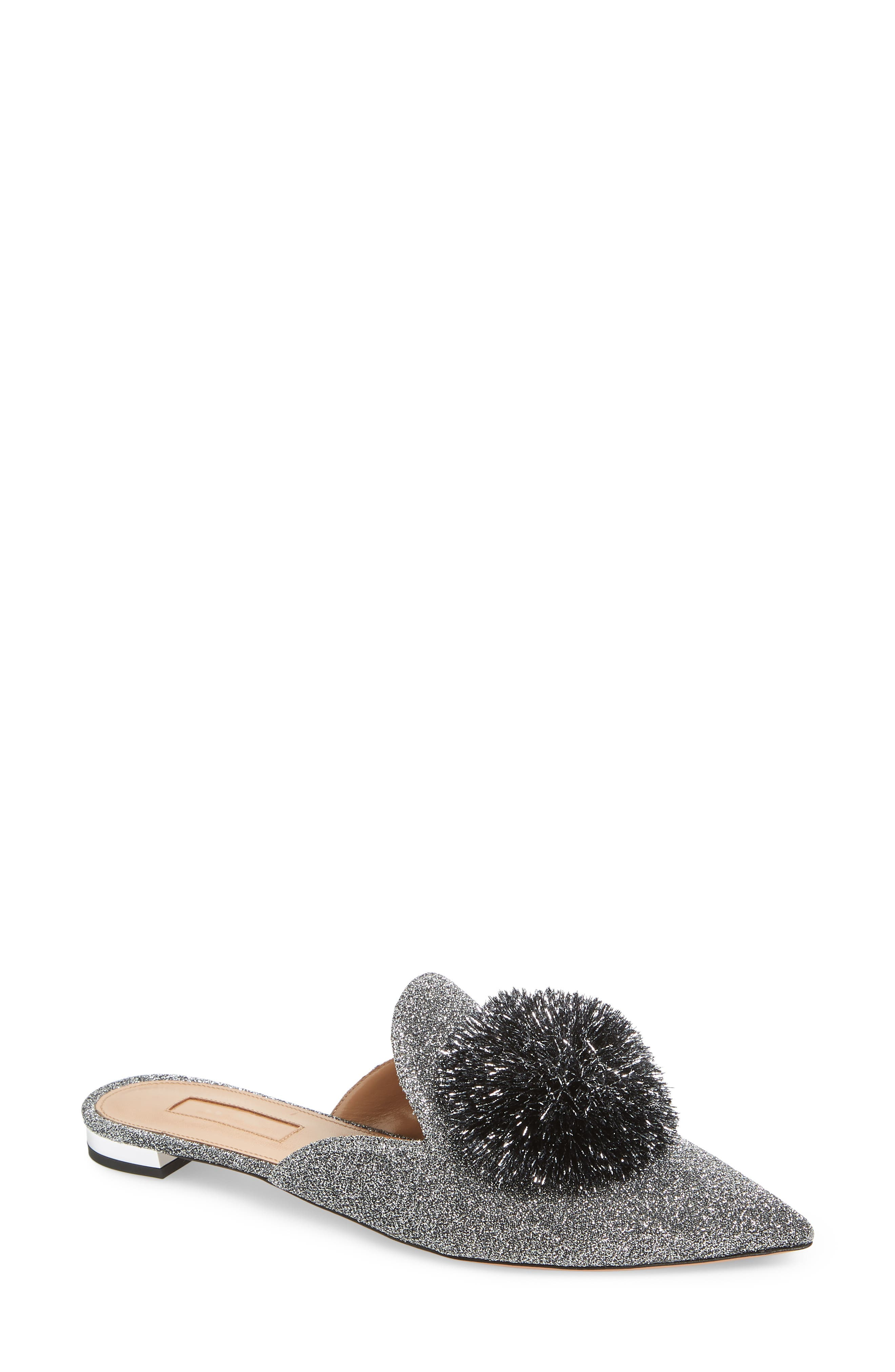 Aquazurra Powder Puff Metallic Mule (Women)