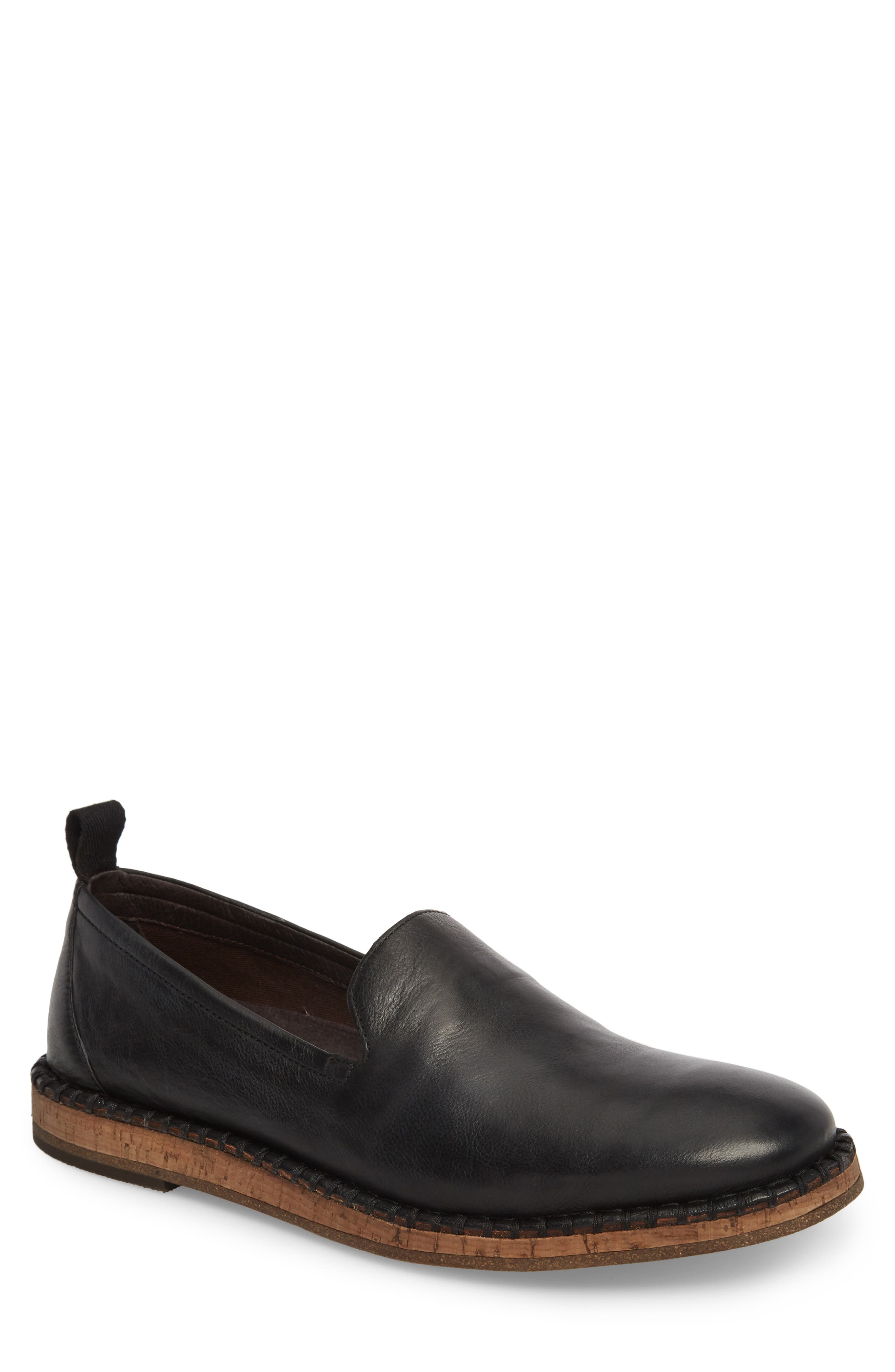 John Varvatos Zander Loafer,                         Main,                         color, Black/Black