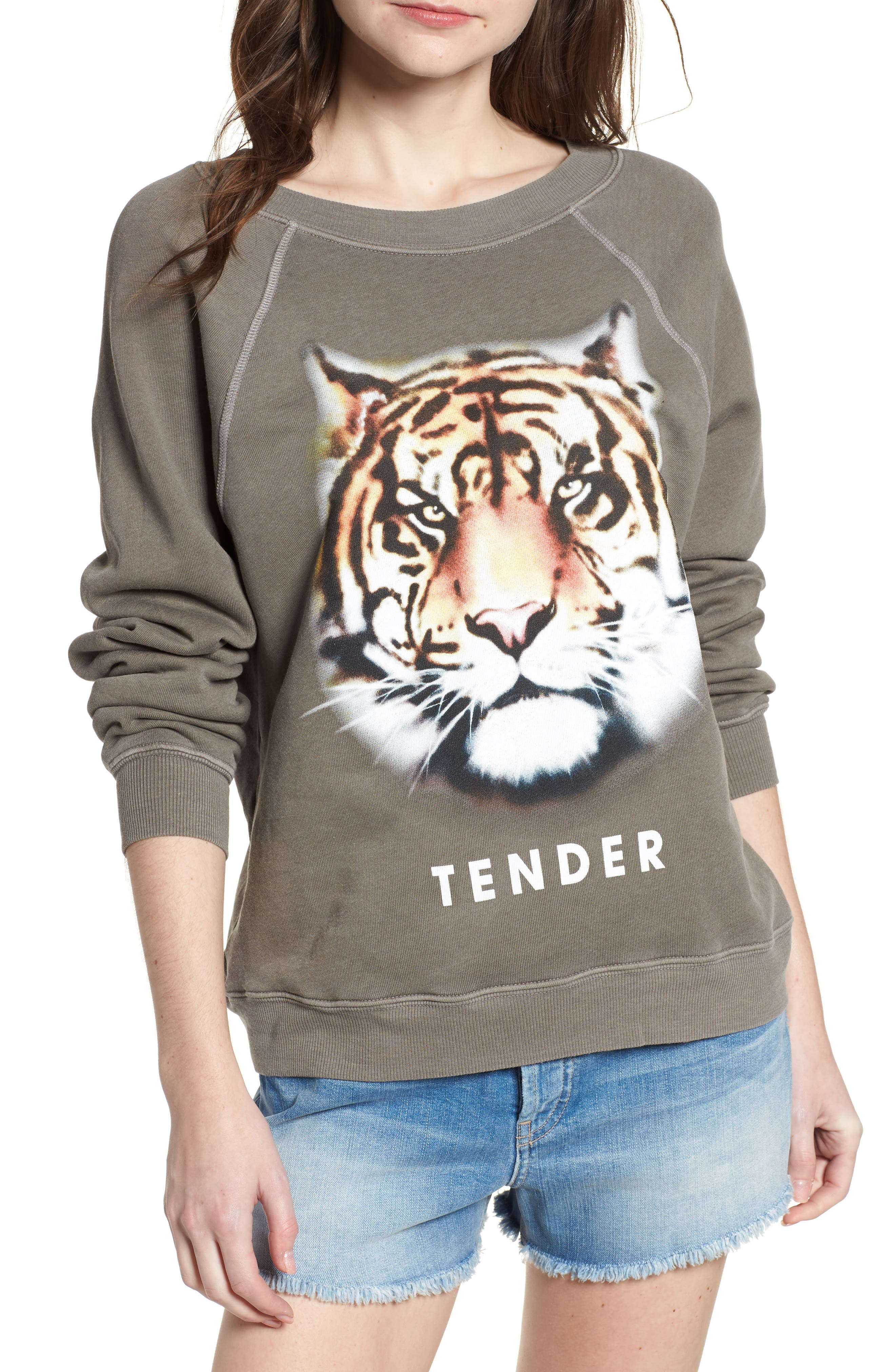 Tender - Sommers Sweatshirt,                             Main thumbnail 1, color,                             Od Green