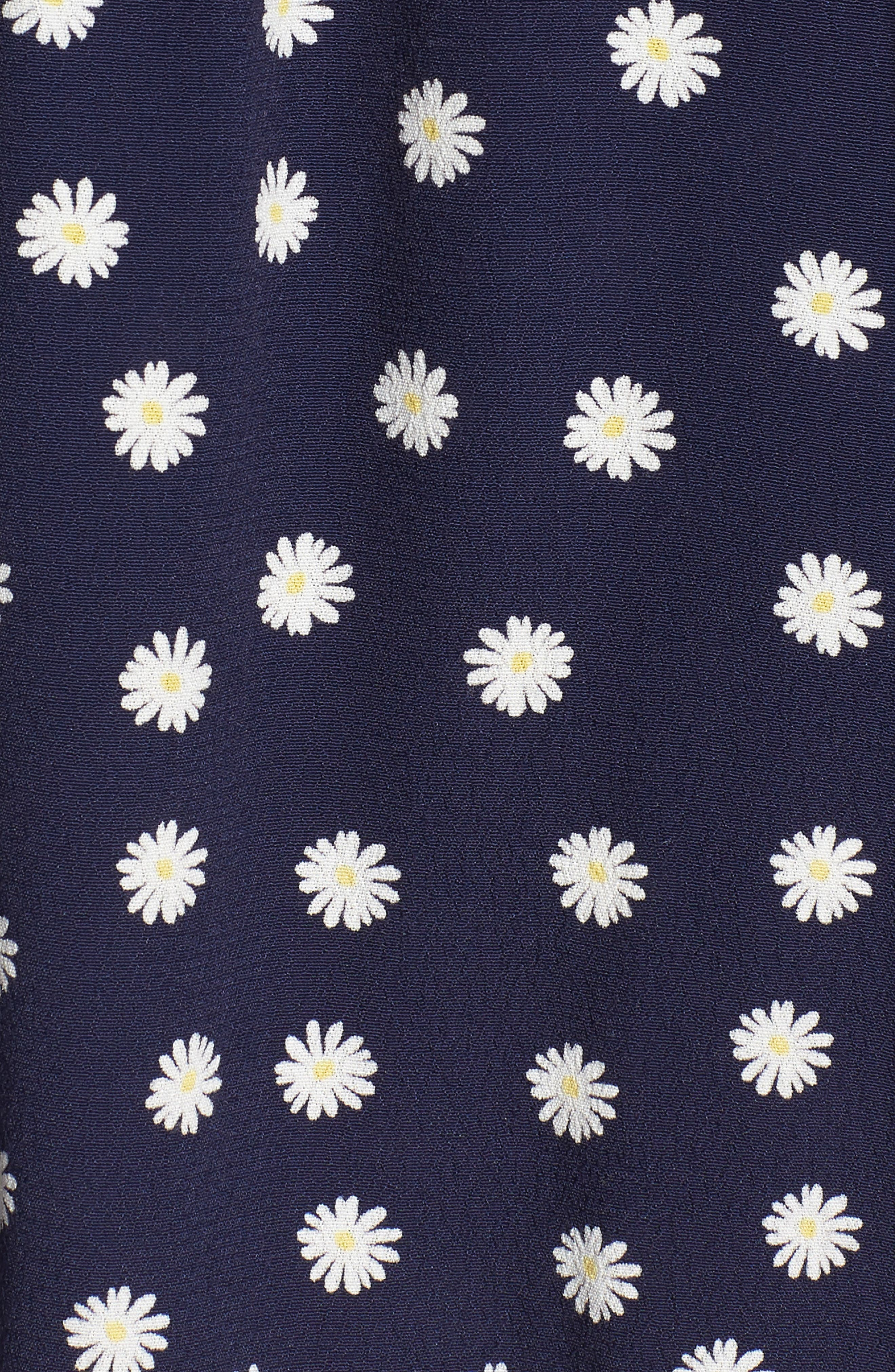 August Daisy Tie Front Dress,                             Alternate thumbnail 6, color,                             Navy Daisies