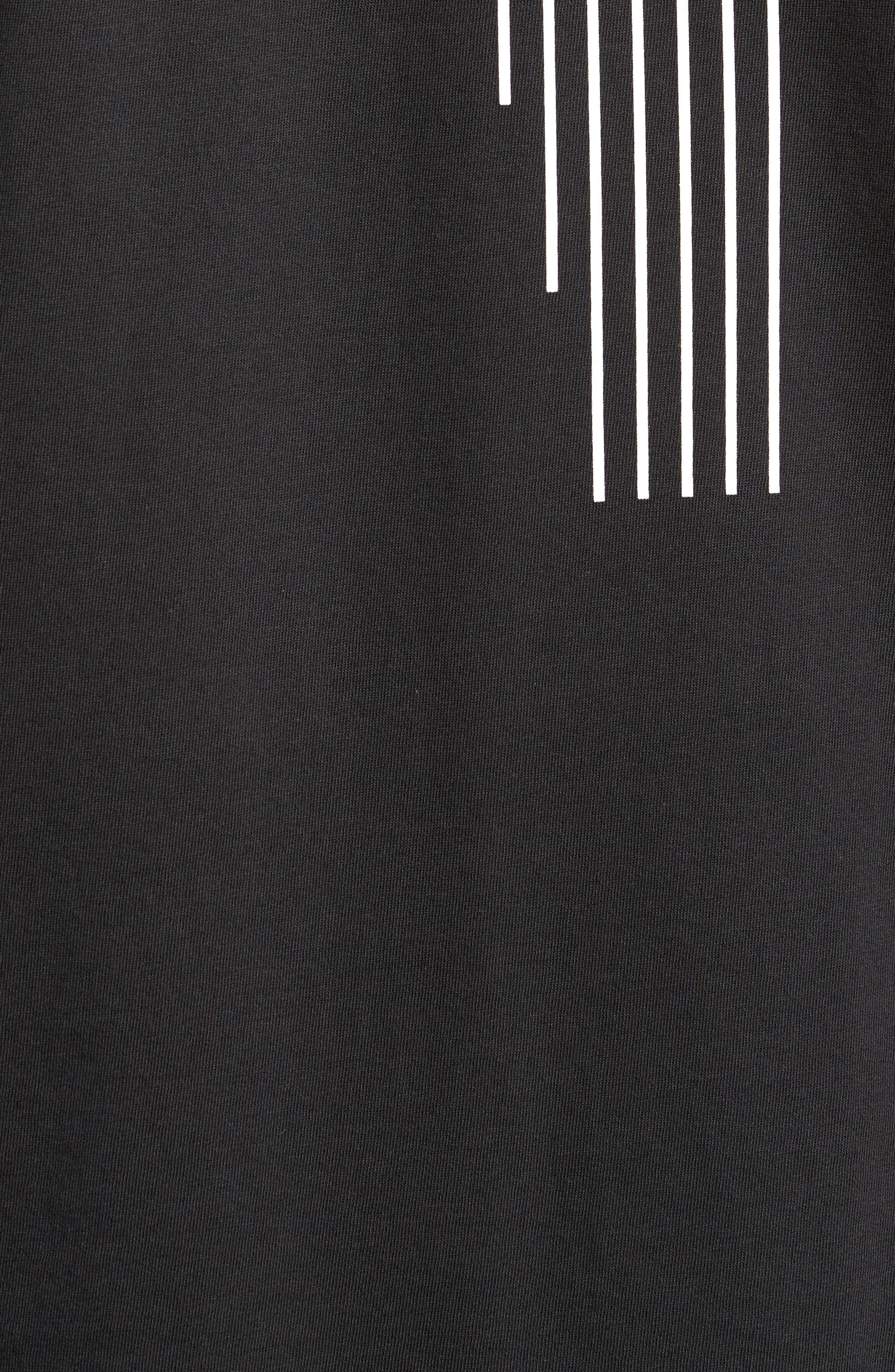 Rose Graphic T-Shirt,                             Alternate thumbnail 5, color,                             Black