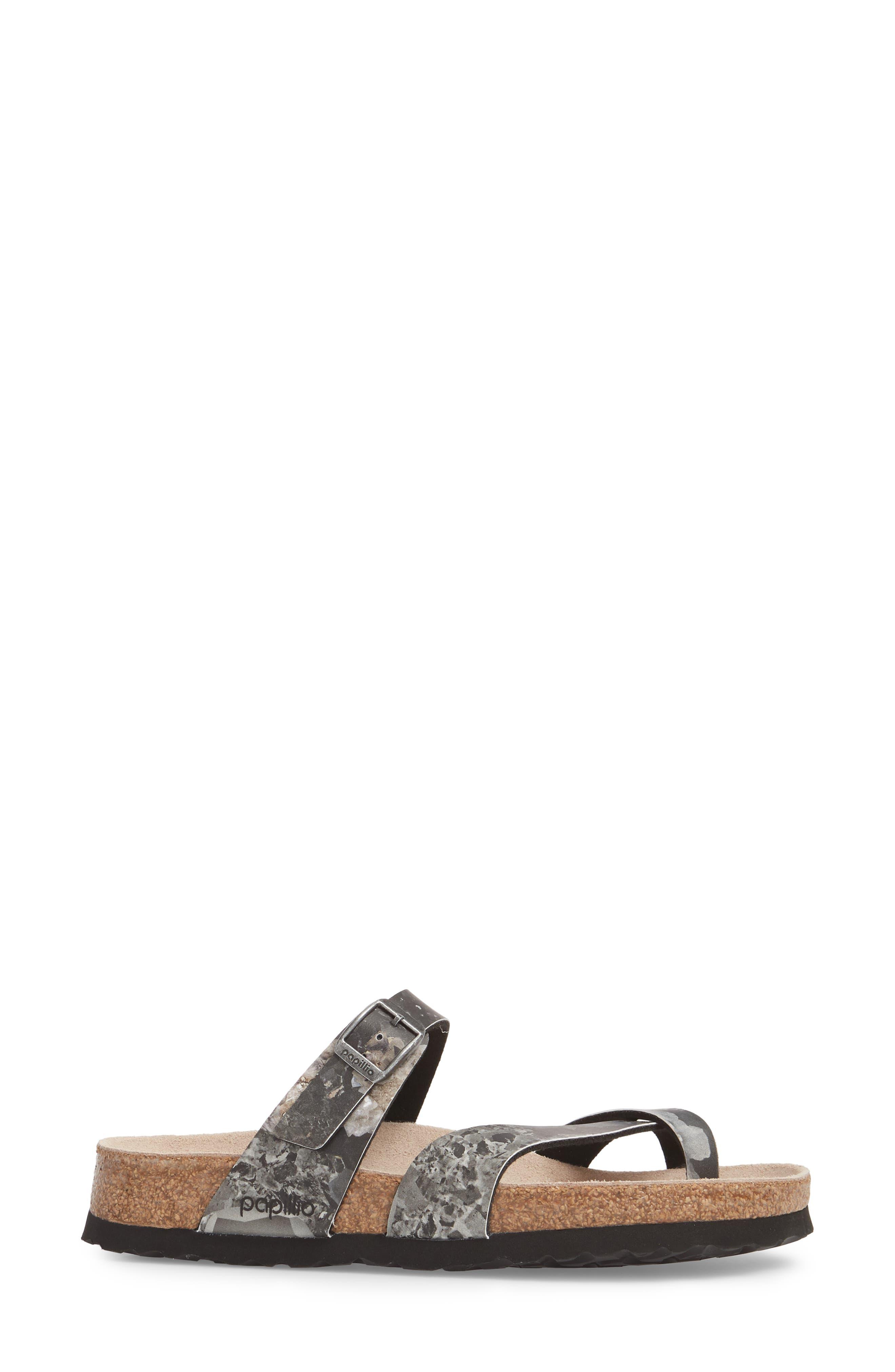 Papillio by Birkenstock Tabora Birko-Flor Slide Sandal,                             Alternate thumbnail 3, color,                             Crystal Black Leather