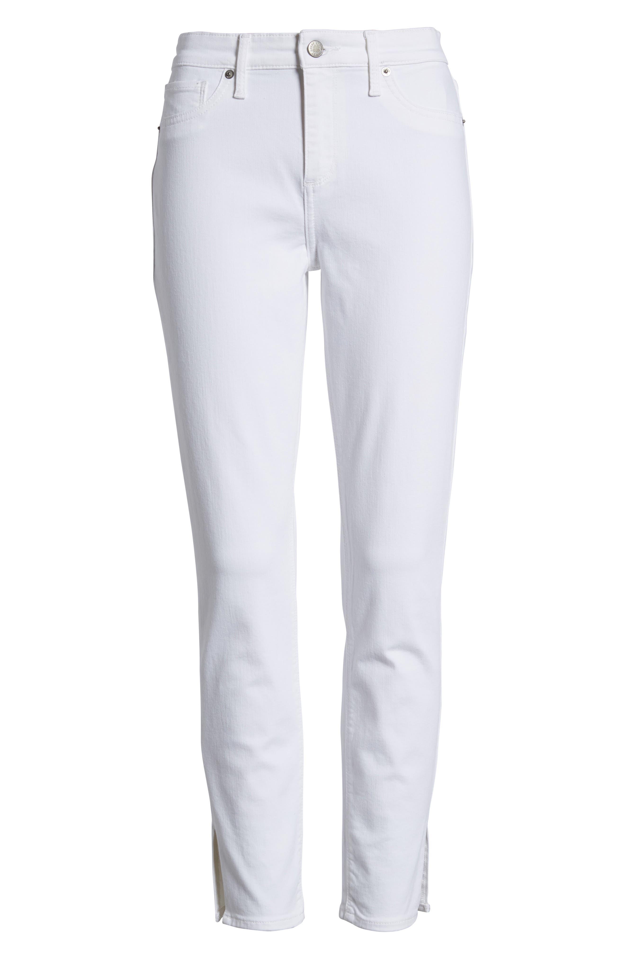 Ava Skinny White Jeans,                             Alternate thumbnail 7, color,                             Clean White