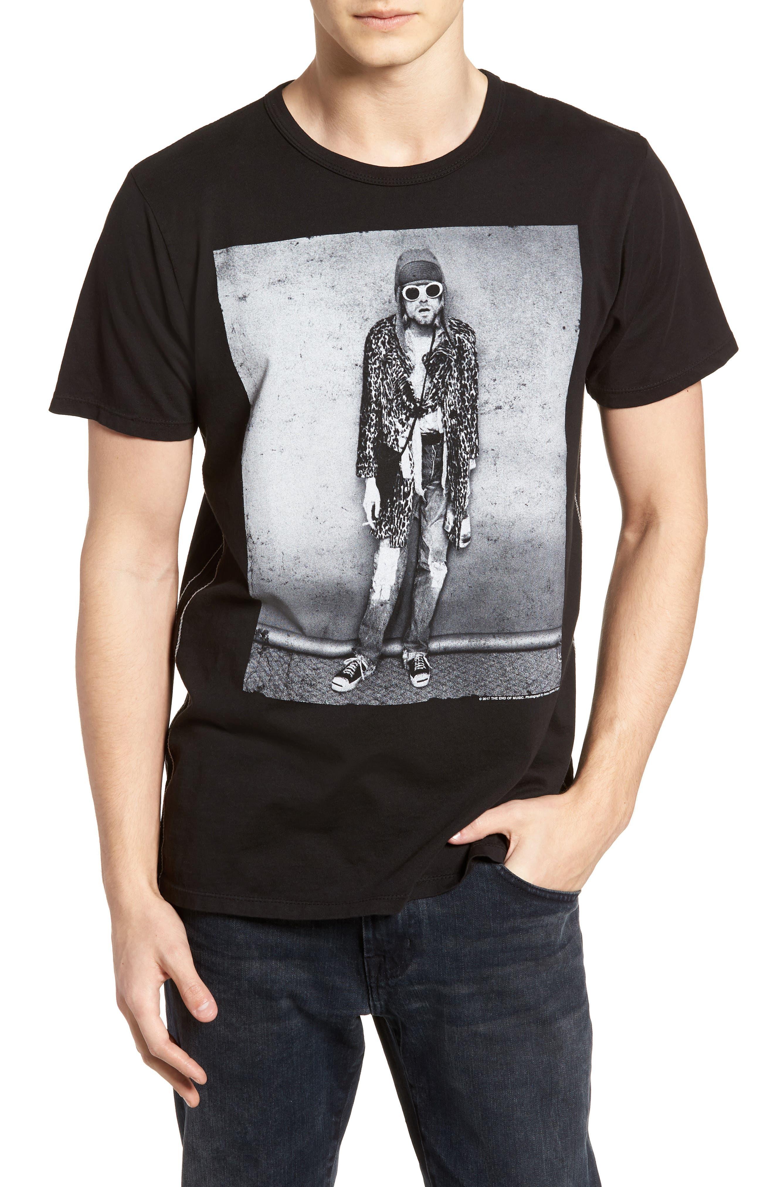 Kurt Cobain Classic T-Shirt,                             Main thumbnail 1, color,                             Vintage Black