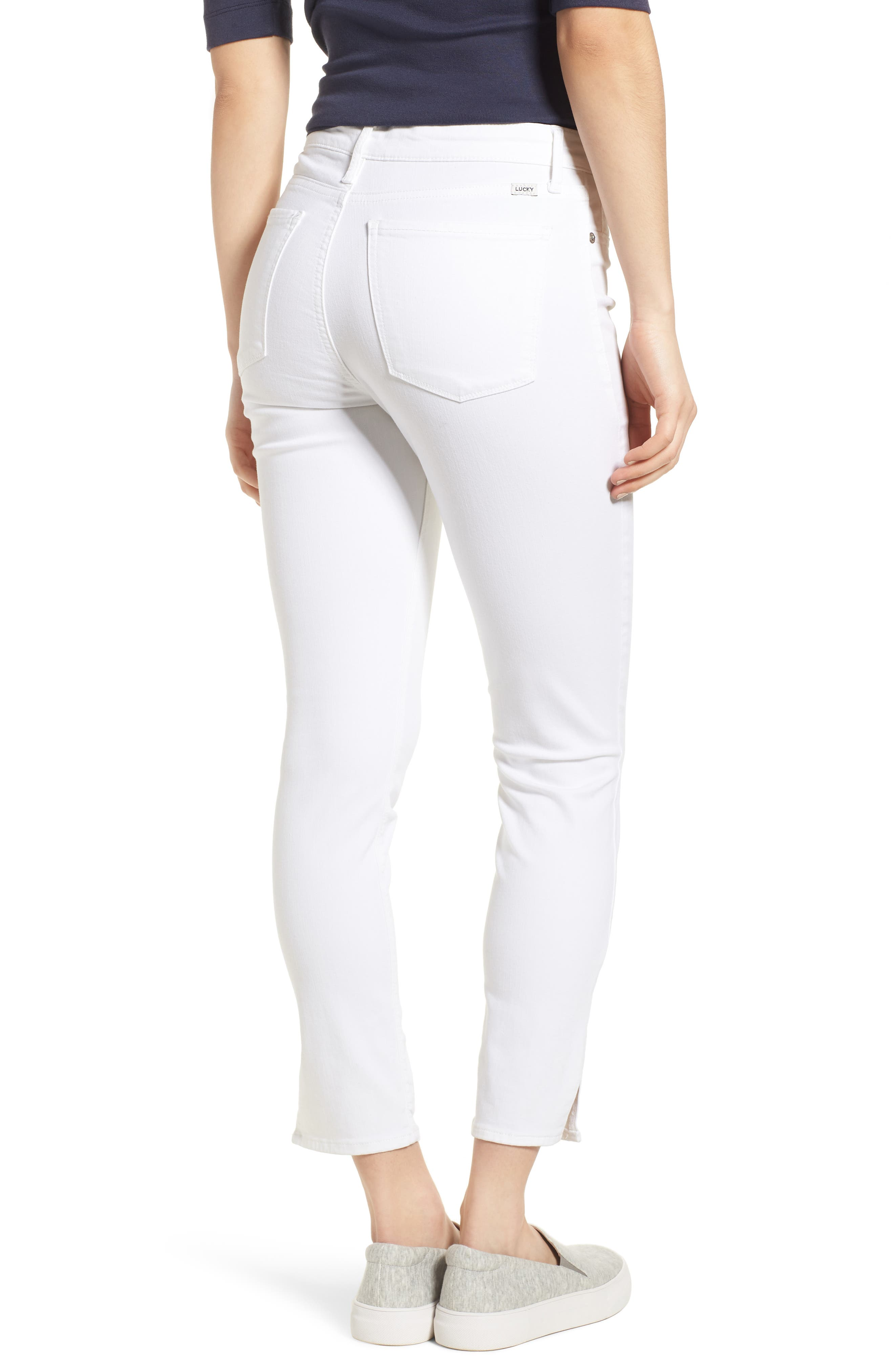 Ava Skinny White Jeans,                             Alternate thumbnail 2, color,                             Clean White