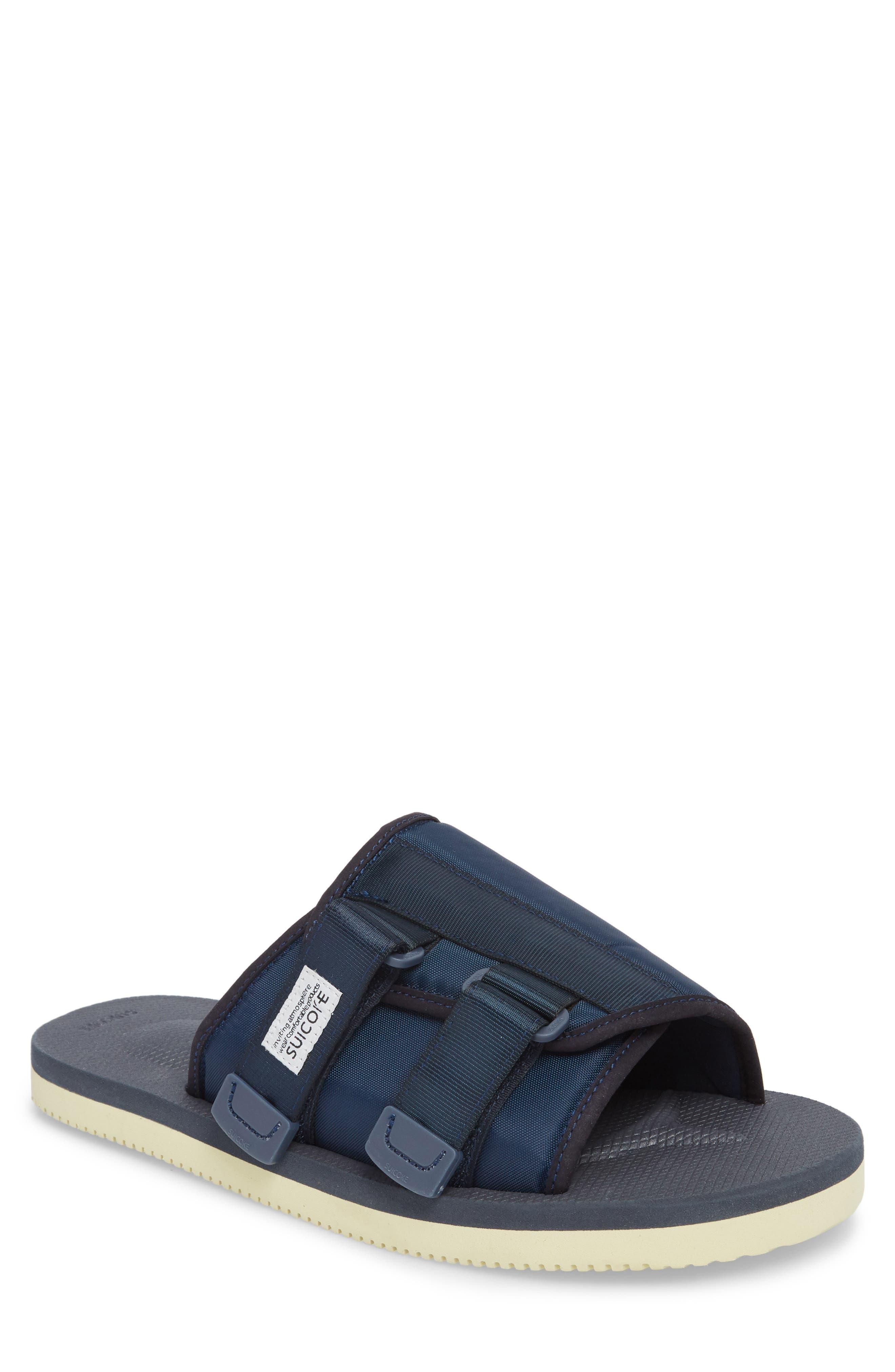 Kaw Cab Slide Sandal,                             Main thumbnail 1, color,                             Navy