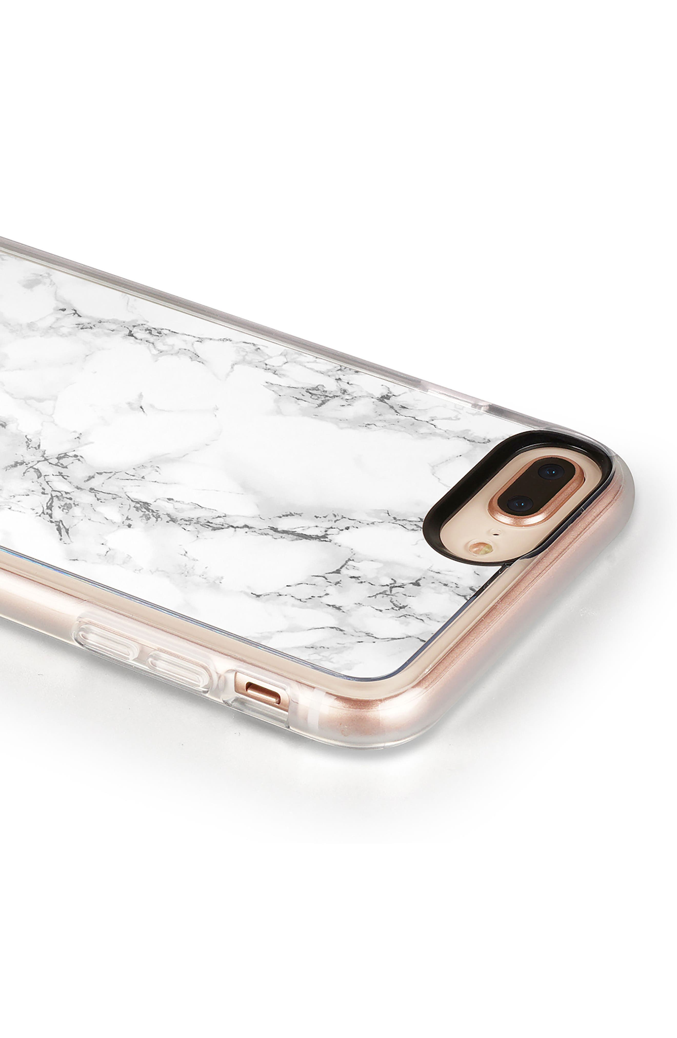 White Marble iPhone 7/8 & 7/8 Plus,                             Alternate thumbnail 7, color,                             White Marble