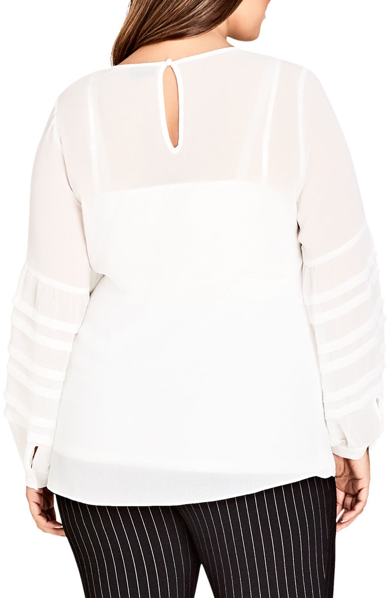 Seraphina Balloon Sleeve Top,                             Alternate thumbnail 2, color,                             Ivory