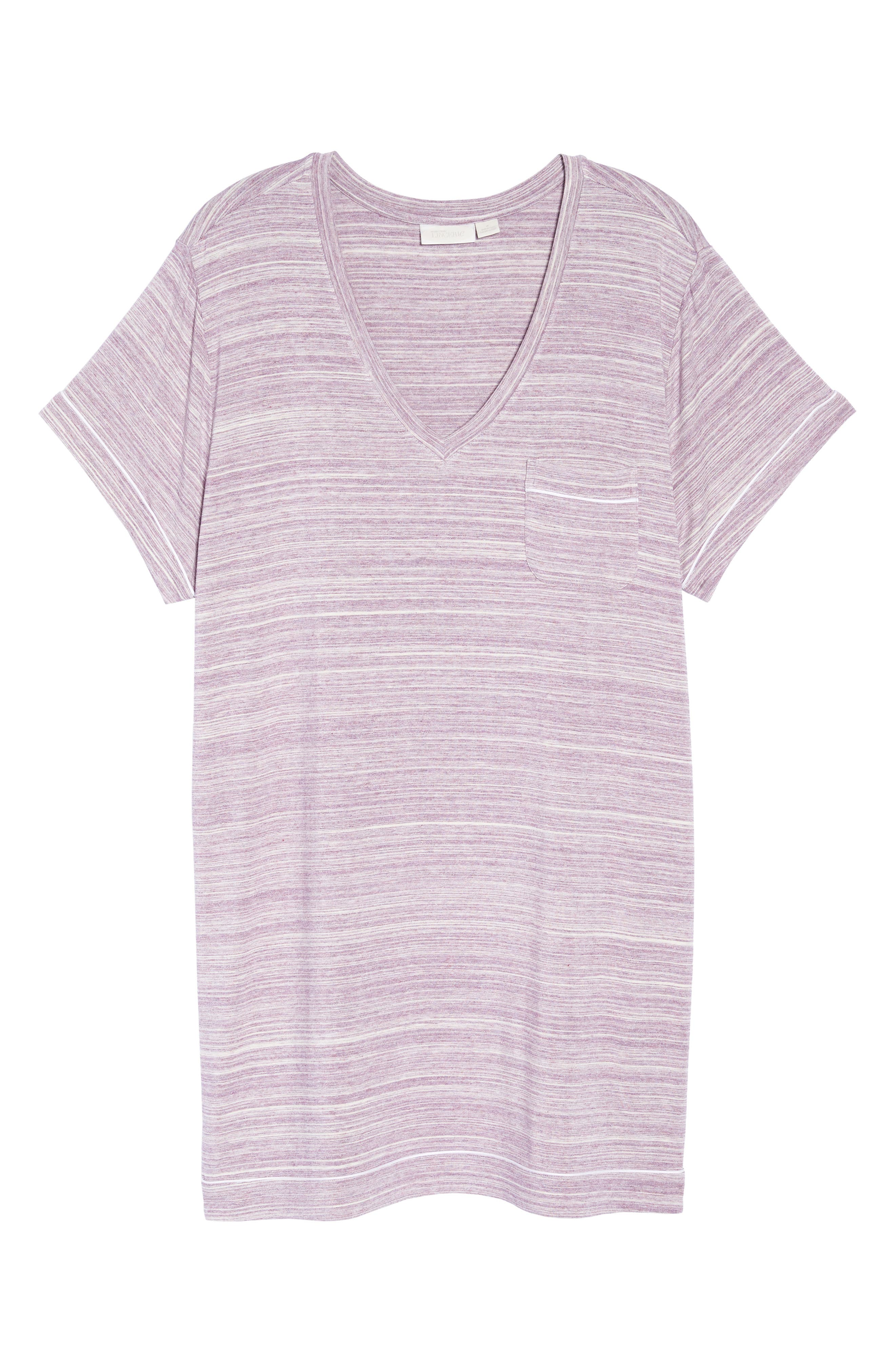 Moonlight V-Neck Nightshirt,                             Alternate thumbnail 6, color,                             Purple Spacedye