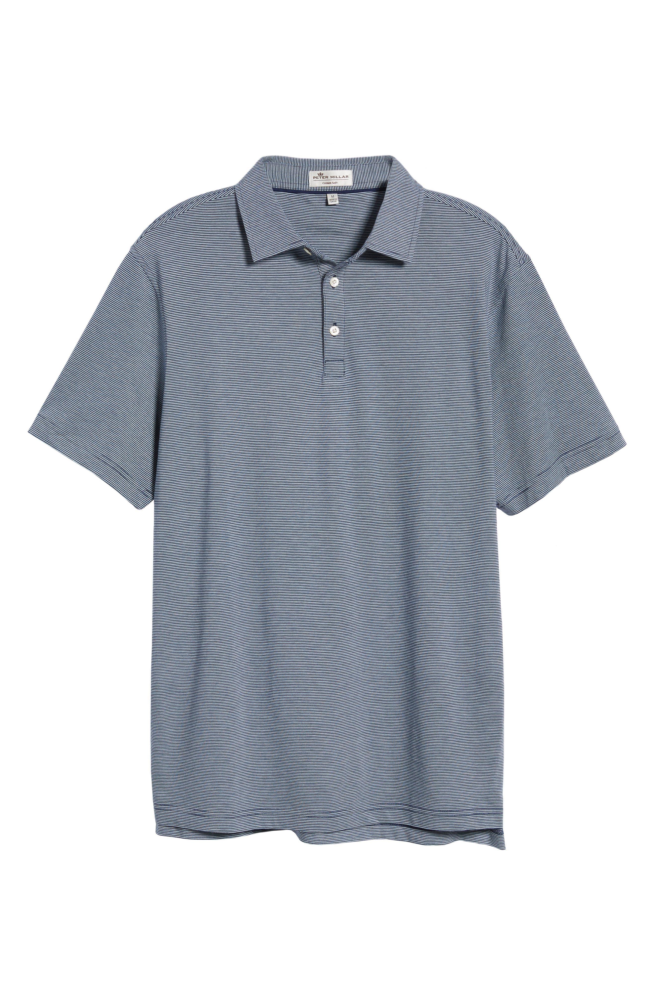 Crown Stripe Polo,                             Alternate thumbnail 6, color,                             Yankee Blue