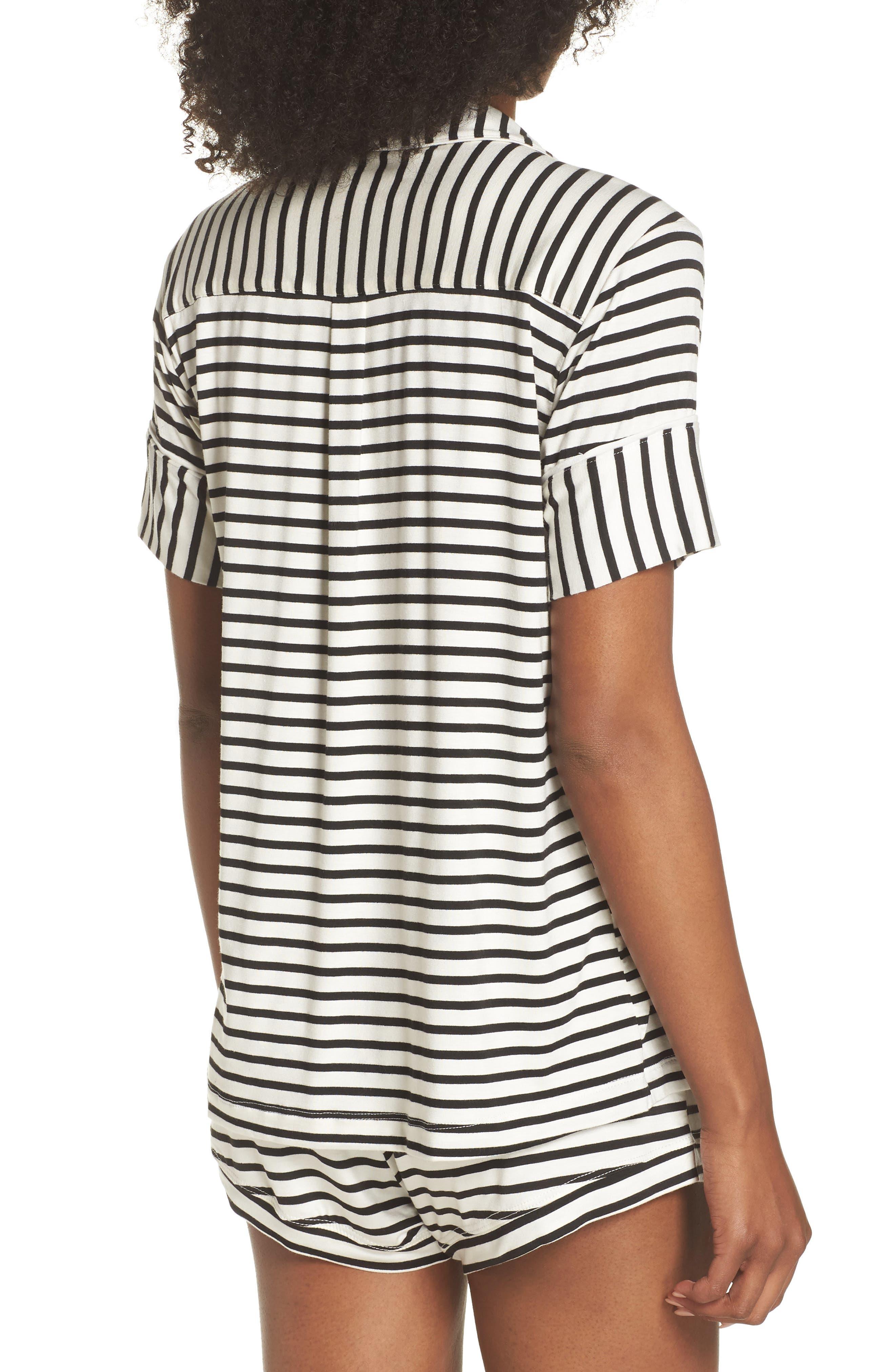 Monaco Short Pajamas,                             Alternate thumbnail 2, color,                             Pearl Stripe