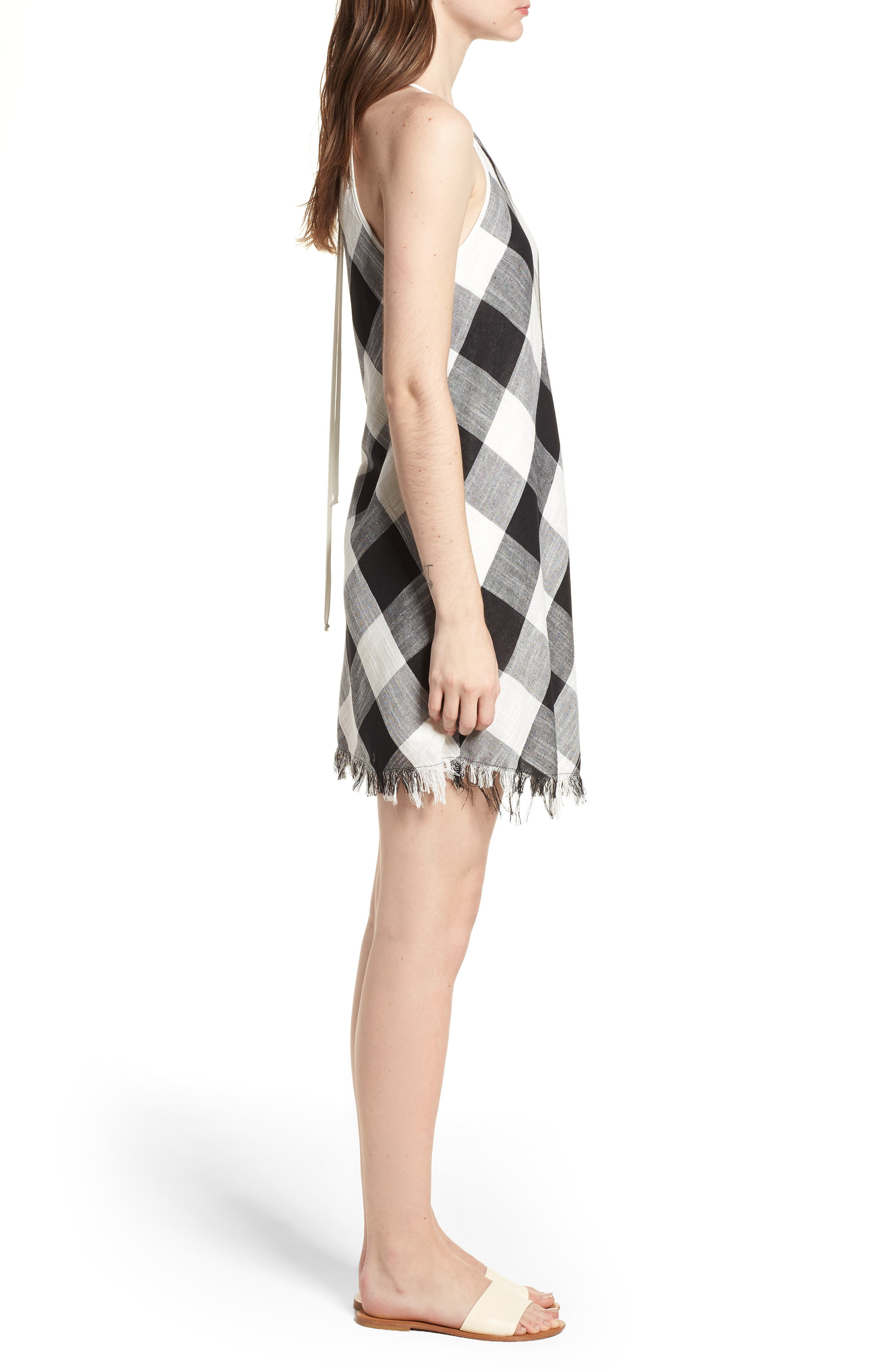 Bishop + Young Gingham Shift Dress,                             Alternate thumbnail 3, color,                             Assorted