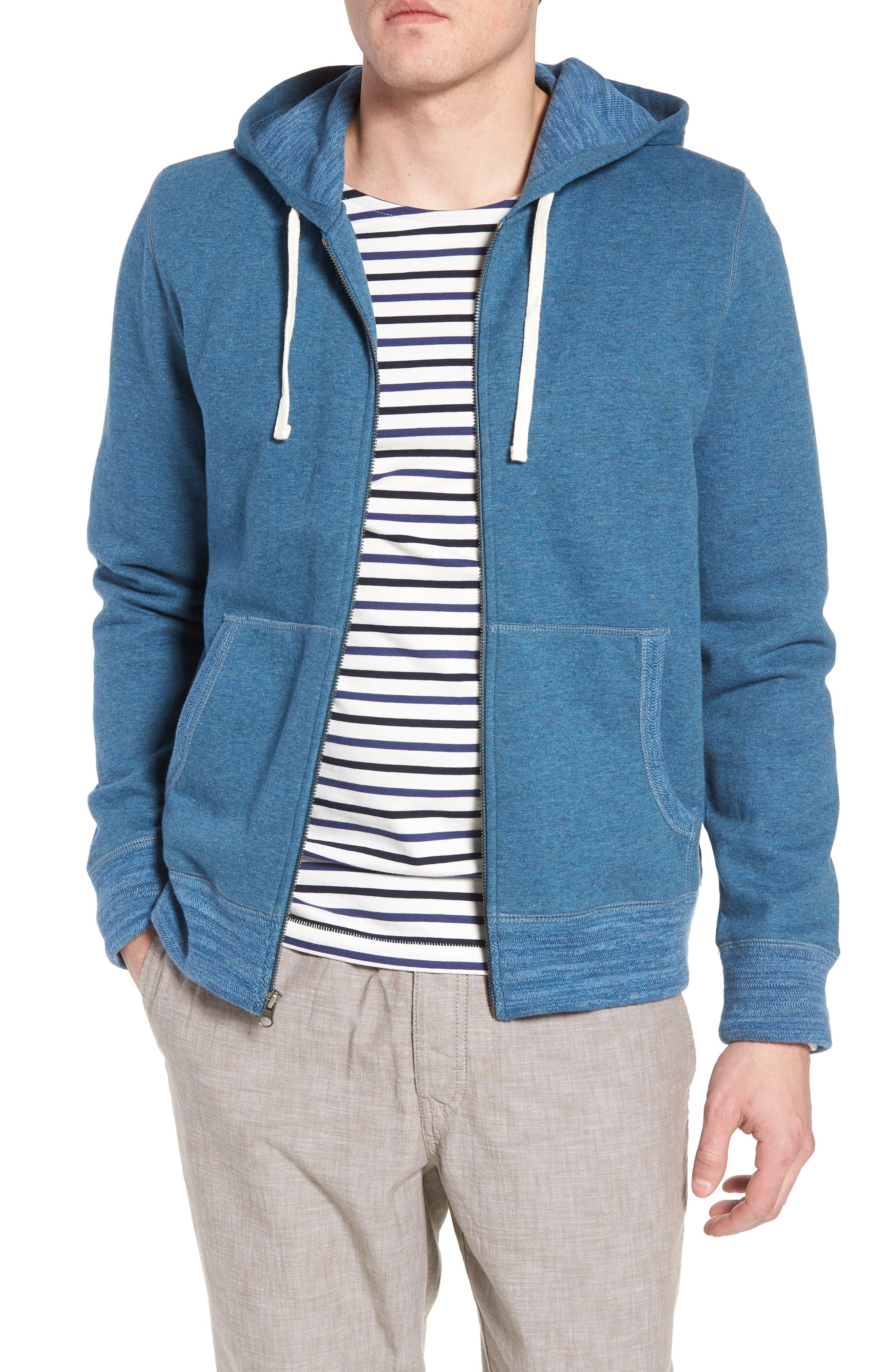 Space Dyed Zip Hoodie,                         Main,                         color, Blue Dark Heather